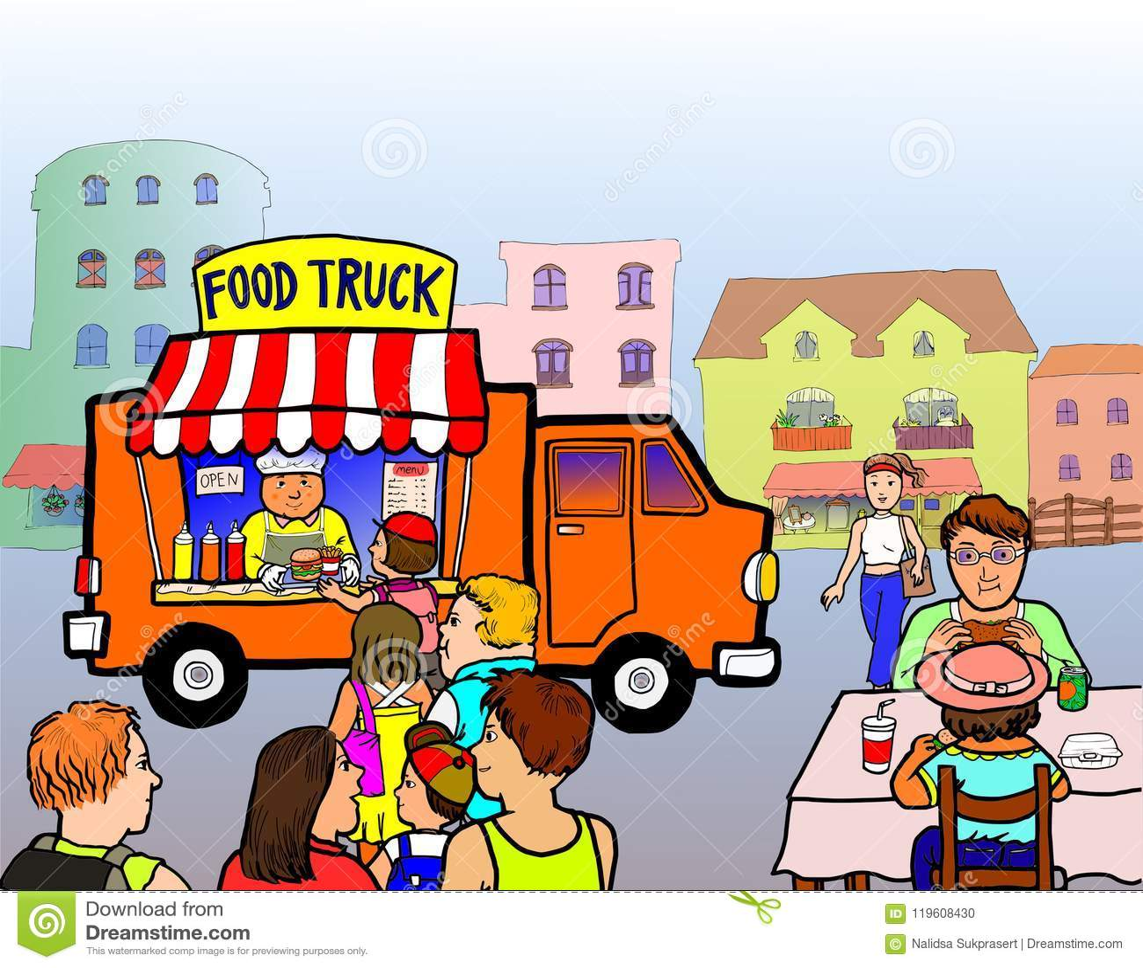 Straßen-Lebensmittel-LKW