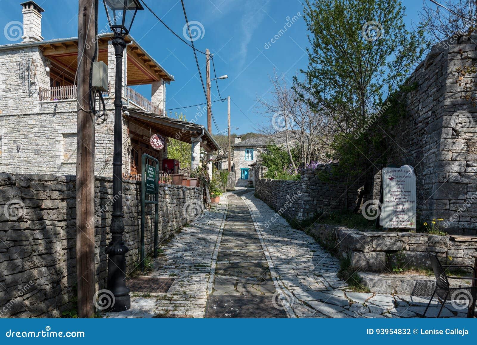 Straßen von Monodendri in zentralem Zagori, Graace