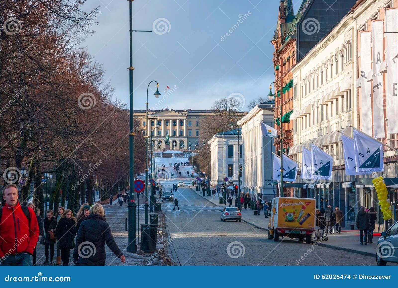 Straßen von Oslo, Norwegen