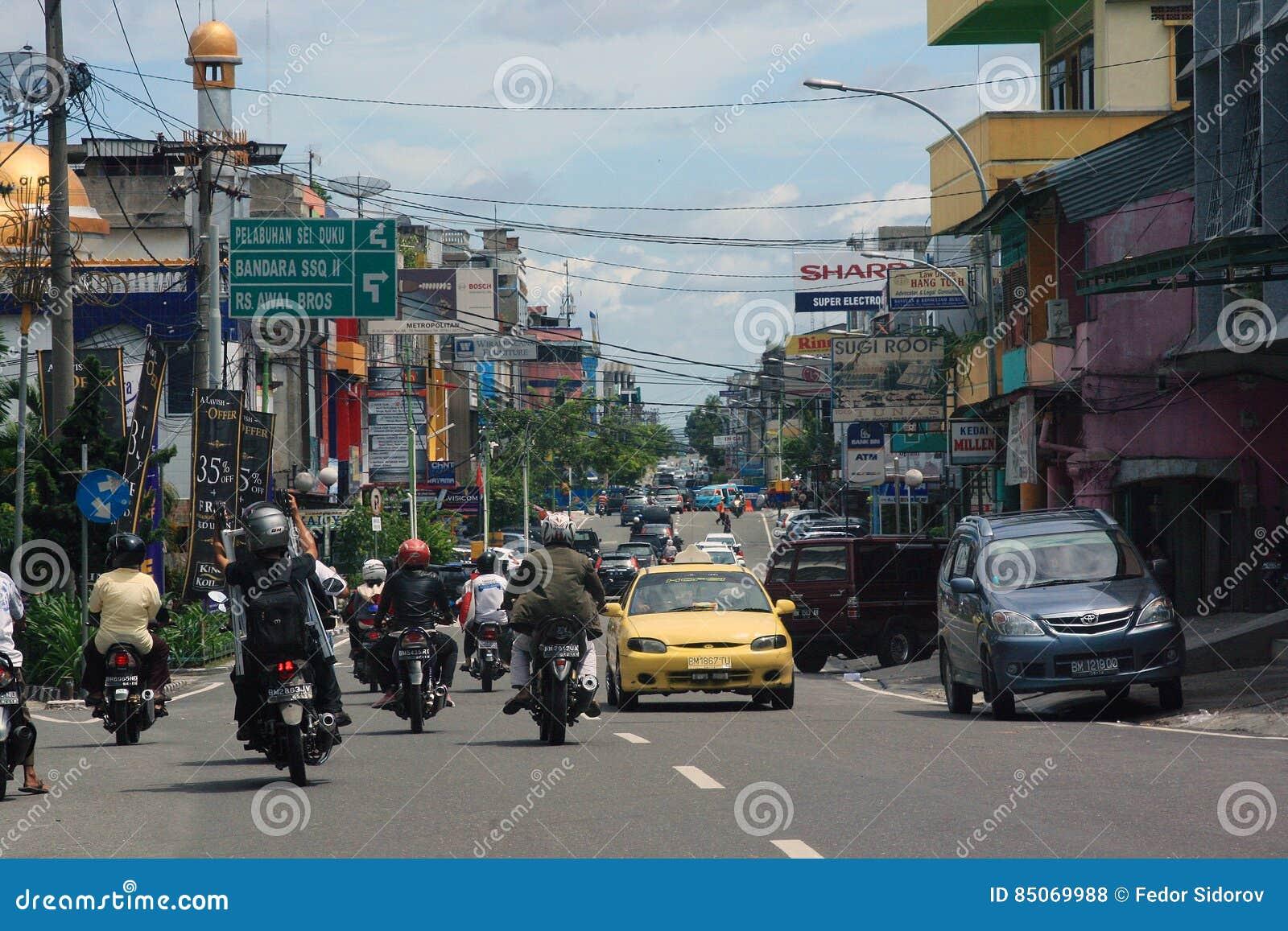 Straßenansicht von Pekanbaru-Stadt