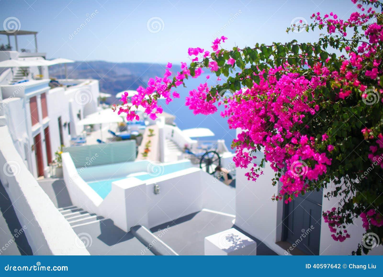 Straßenbild Santorini-Grieche-Insel