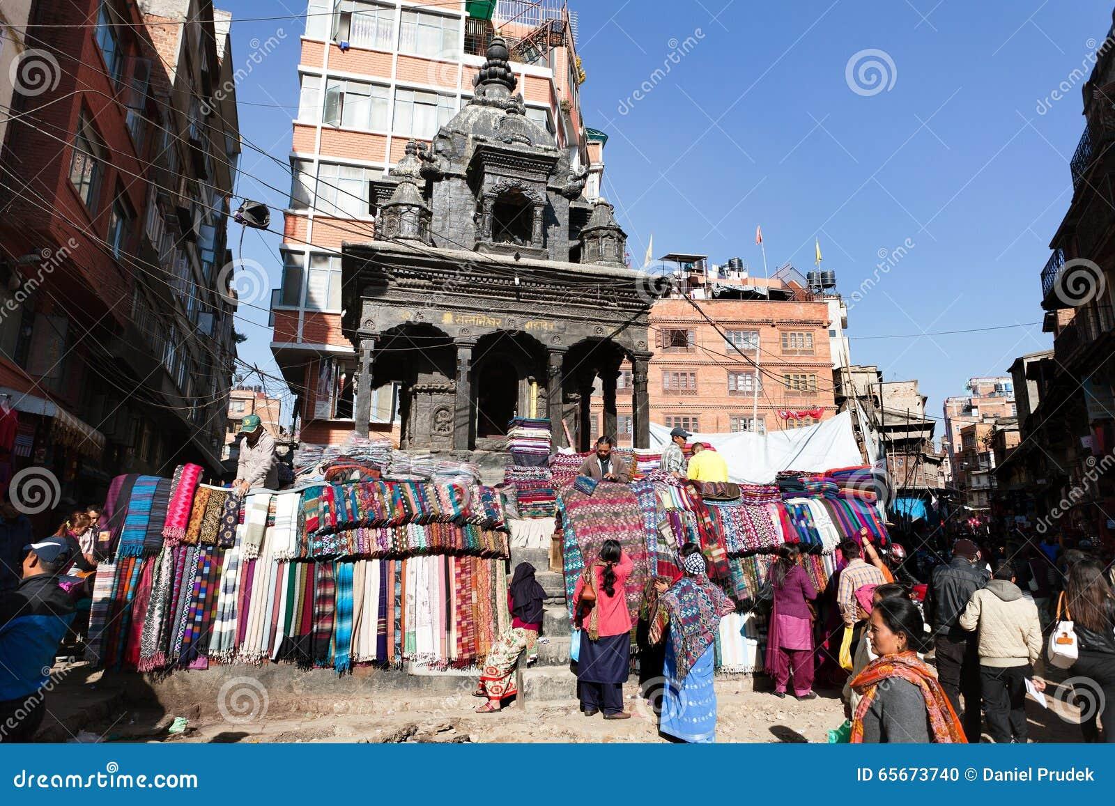 Straßenhändler von pashmina, Kaschmir- und Yakwolle tectile
