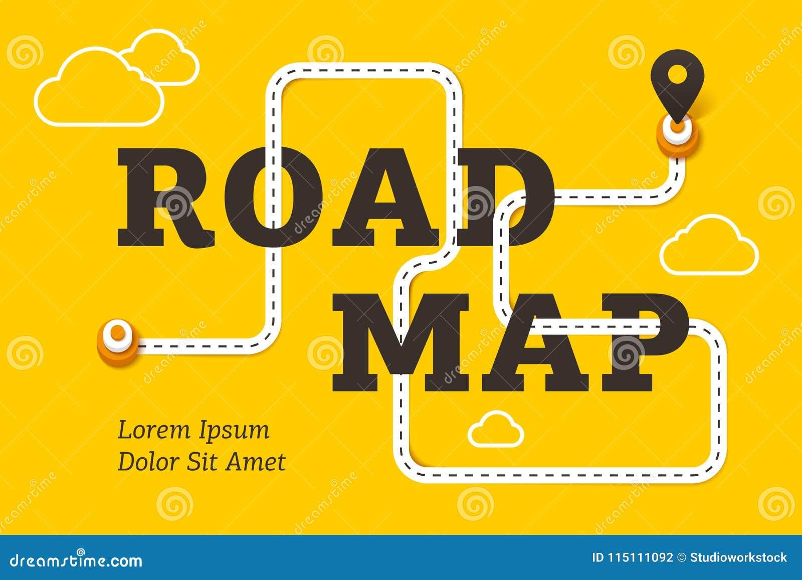 Straßenkarte-Geschäftskonzept mit kurvenreicher Straße