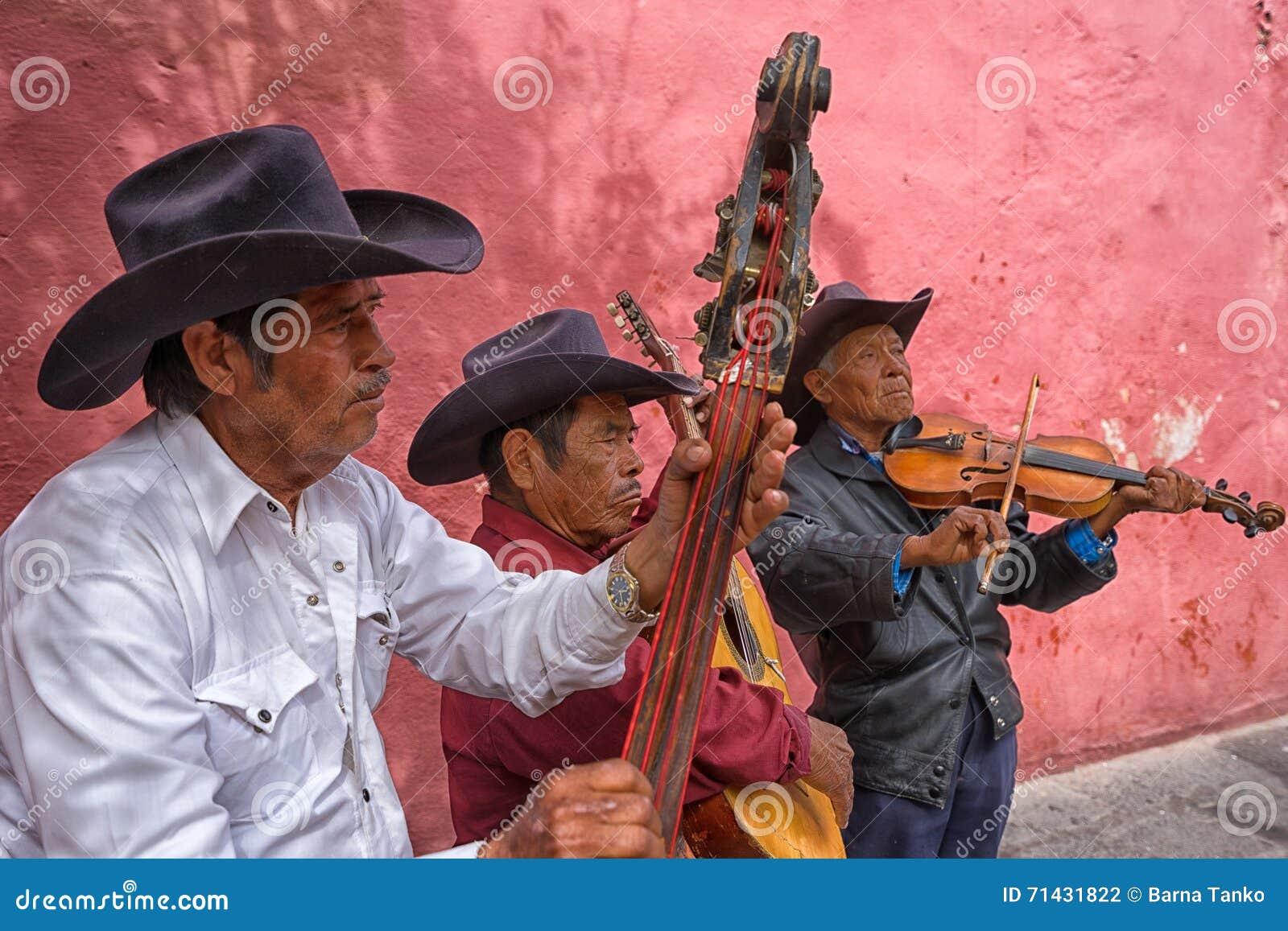 Straßenmusiker in Mexiko