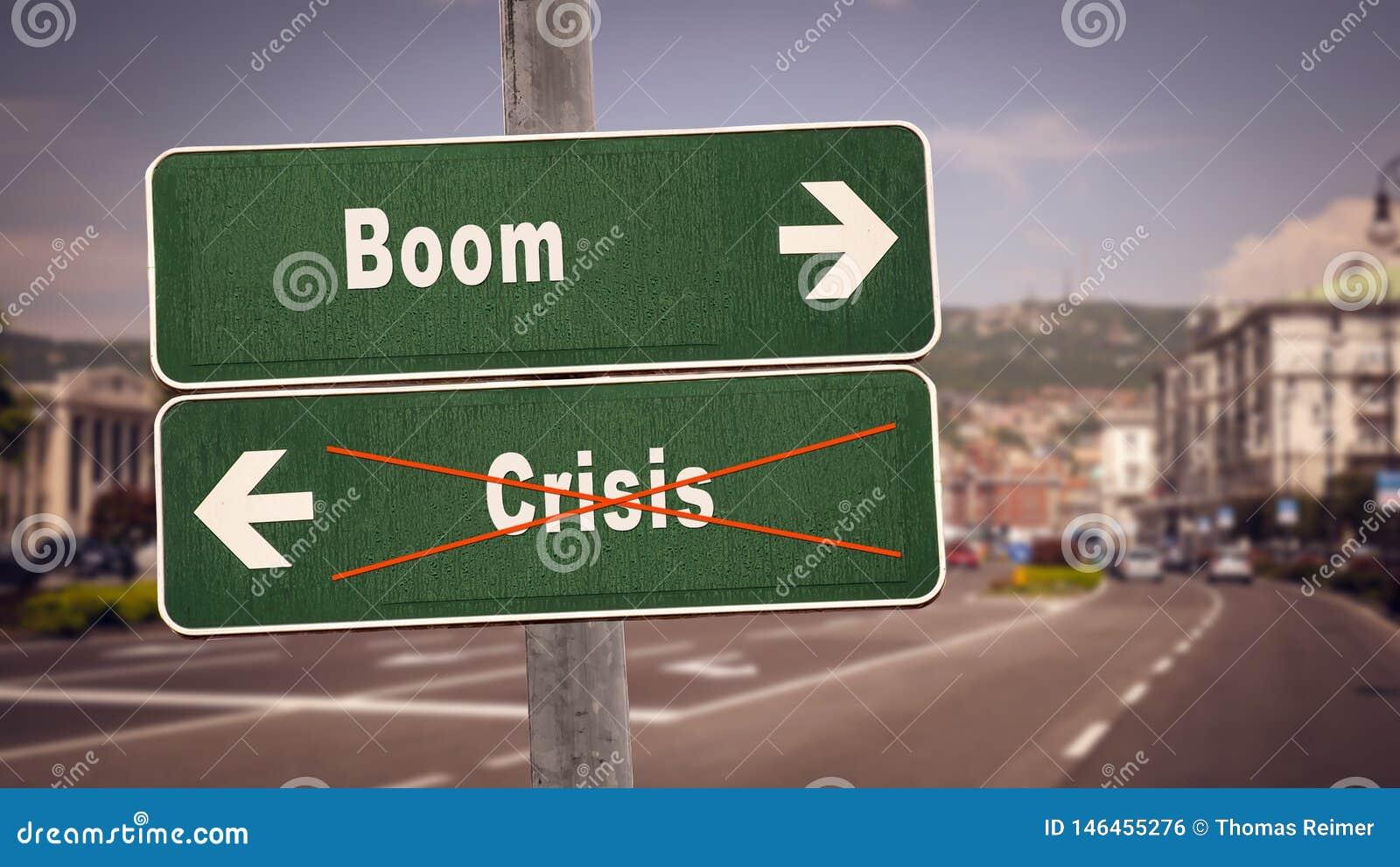 Straßenschild-Boom gegen Krise