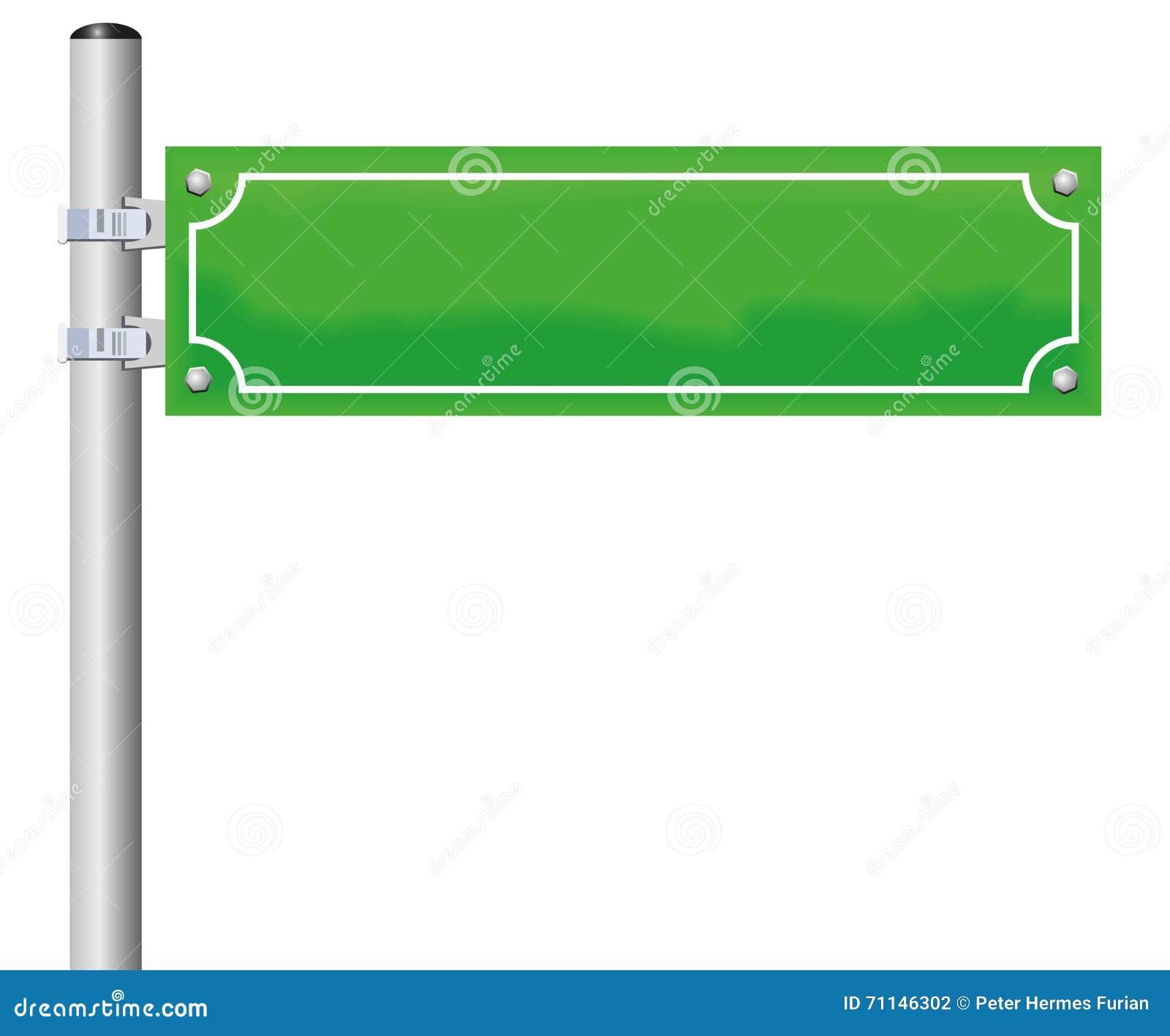 Straßenschild-leeres Grün