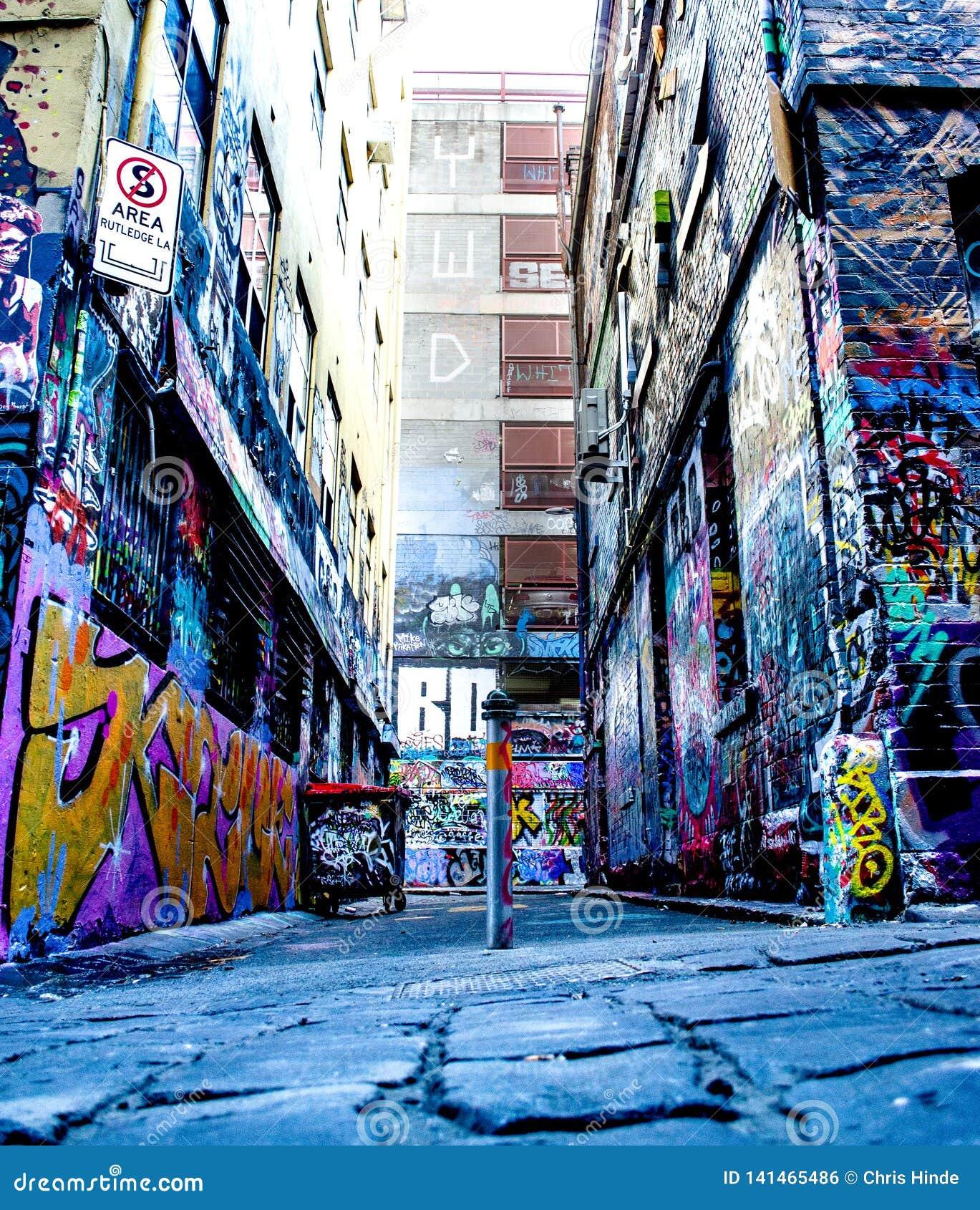 Straßenkunst Melbourne