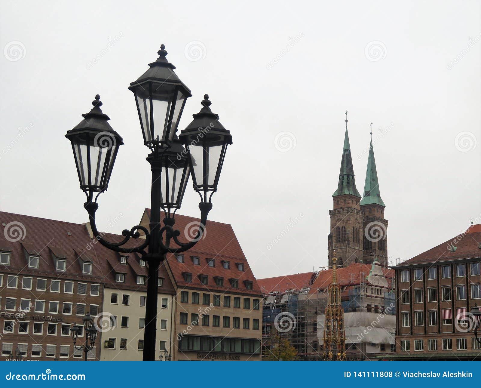 Straßenlaternein Nürnberg, Deutschland