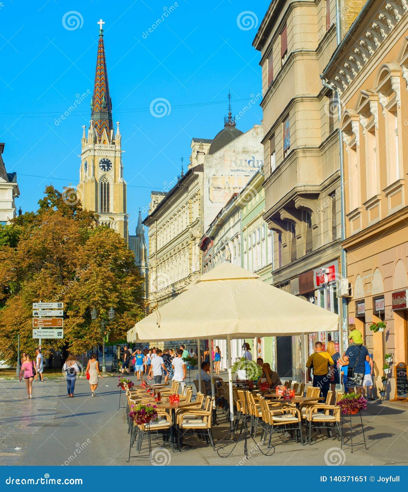 Straßenrestaurant Novi Sad Serbien