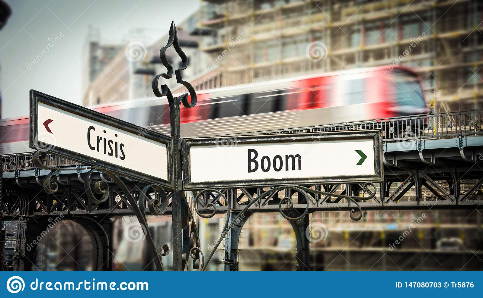 Stra?enschild-Boom gegen Krise