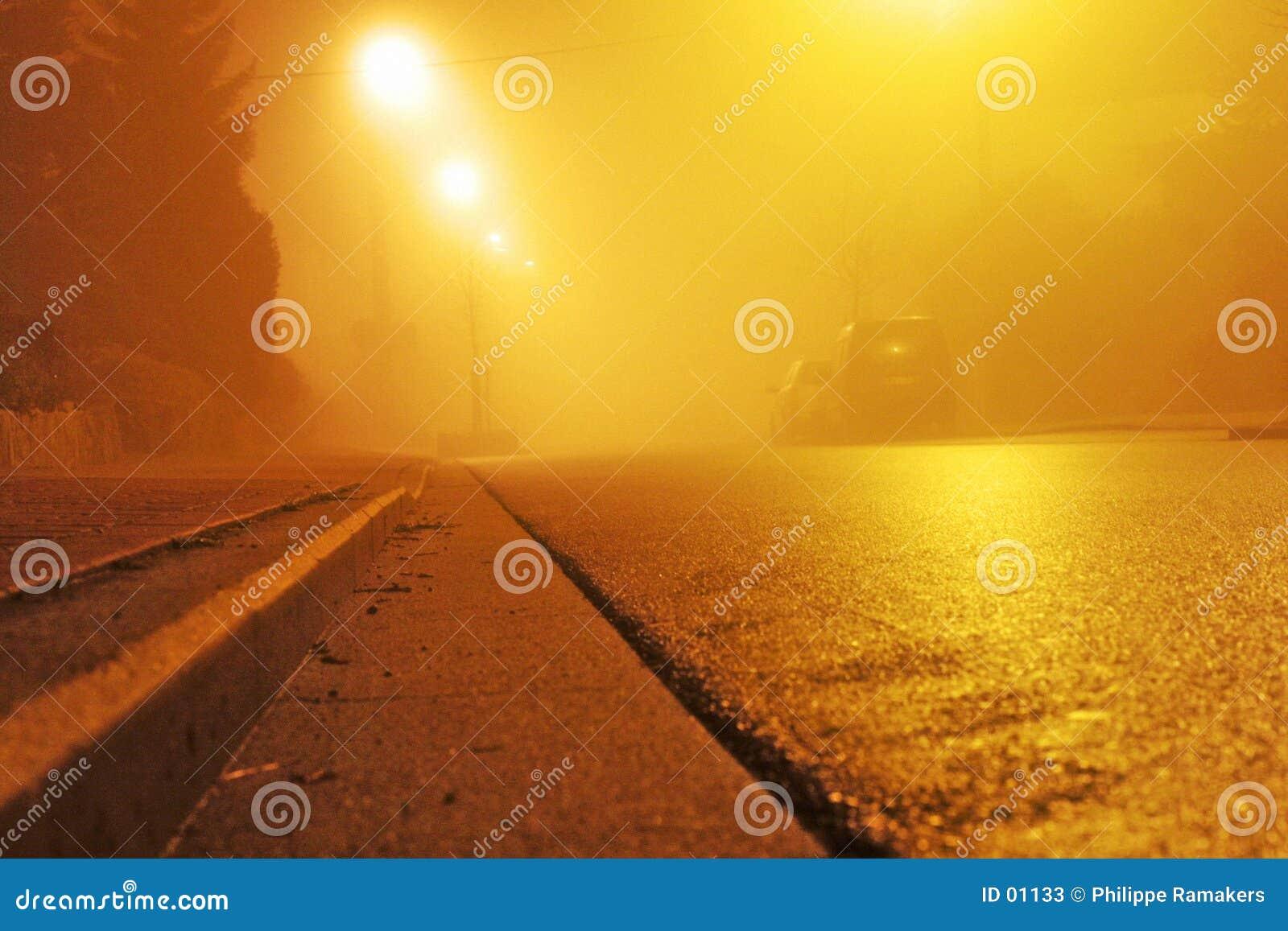Straat bij nacht