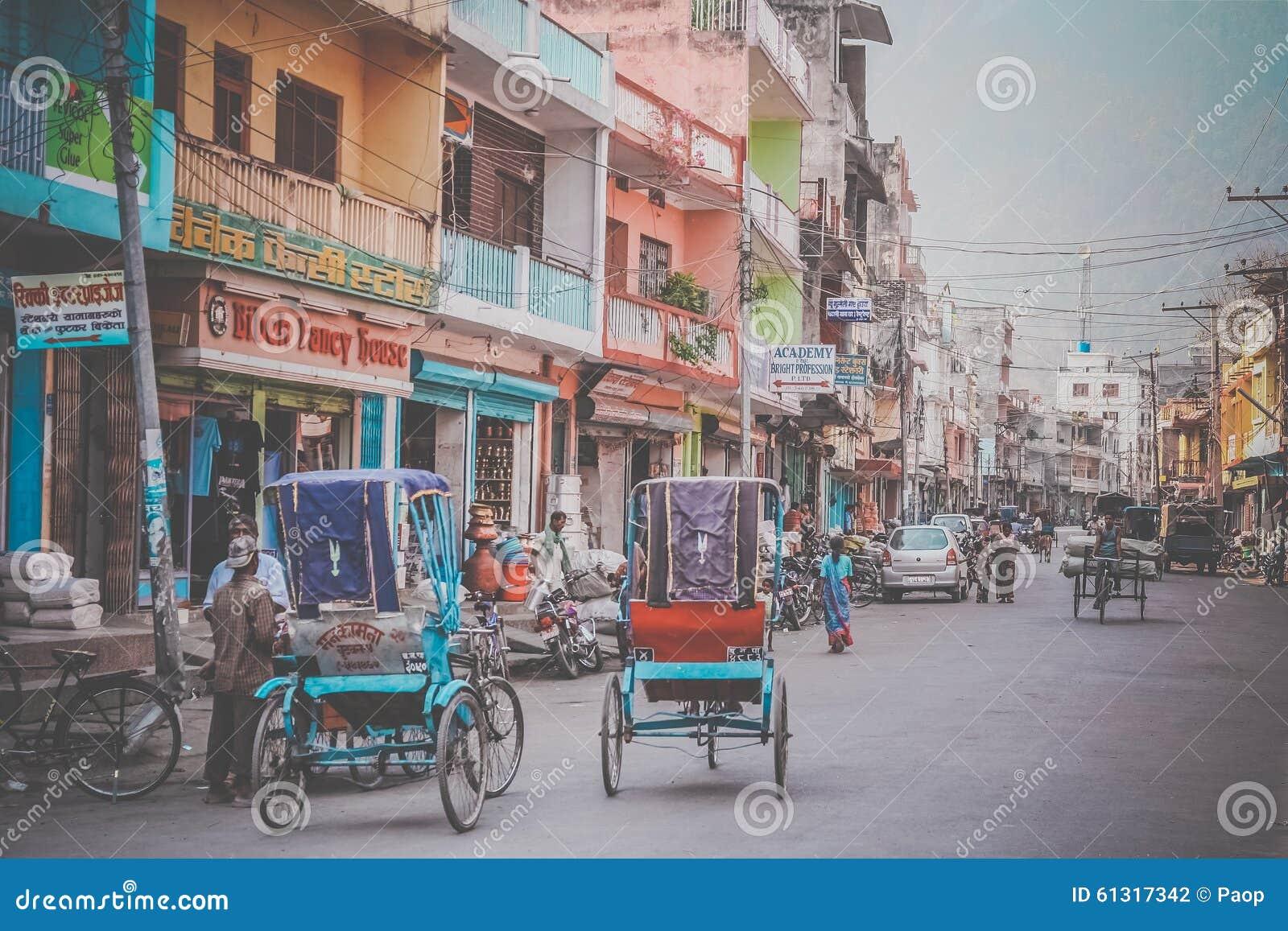 Straat in Butwal