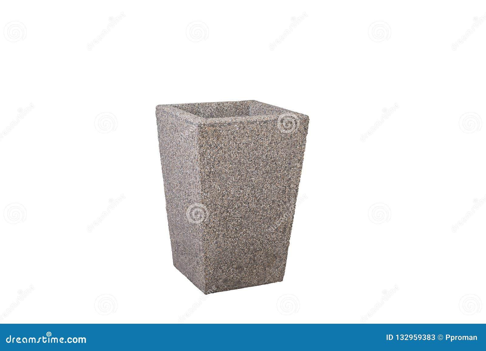 Straat concrete gerecycleerde bak Geïsoleerd op wit