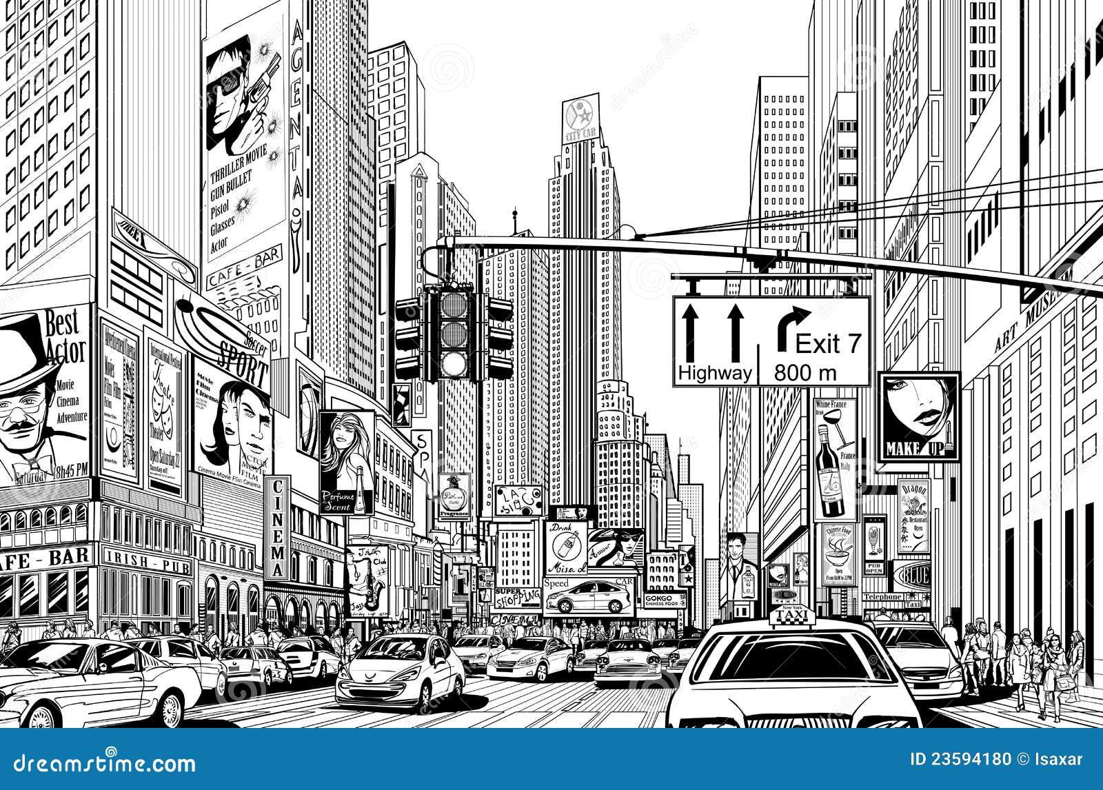 Straat in de stad van New York