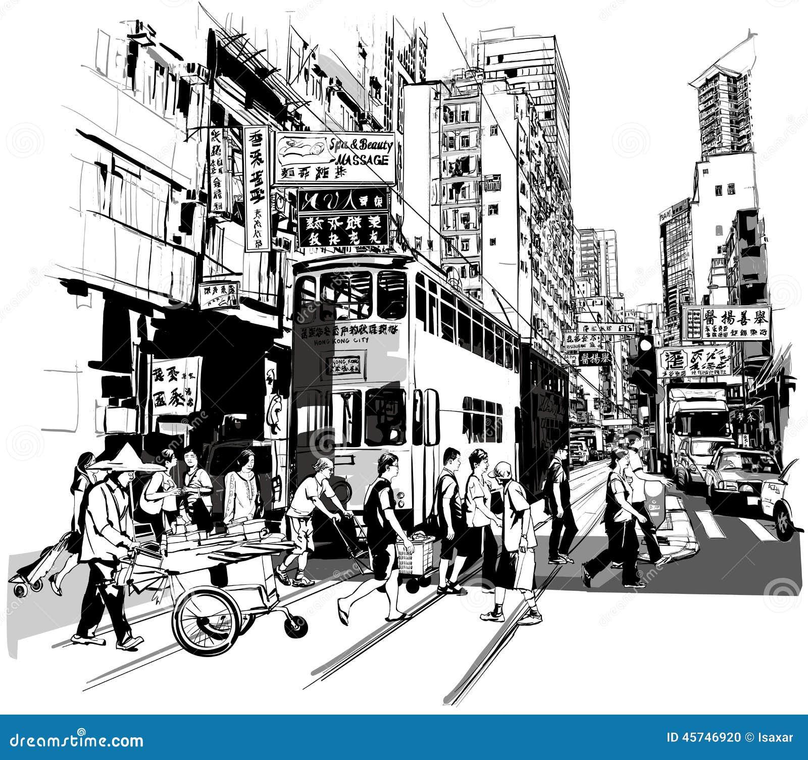 Straat in Hongkong