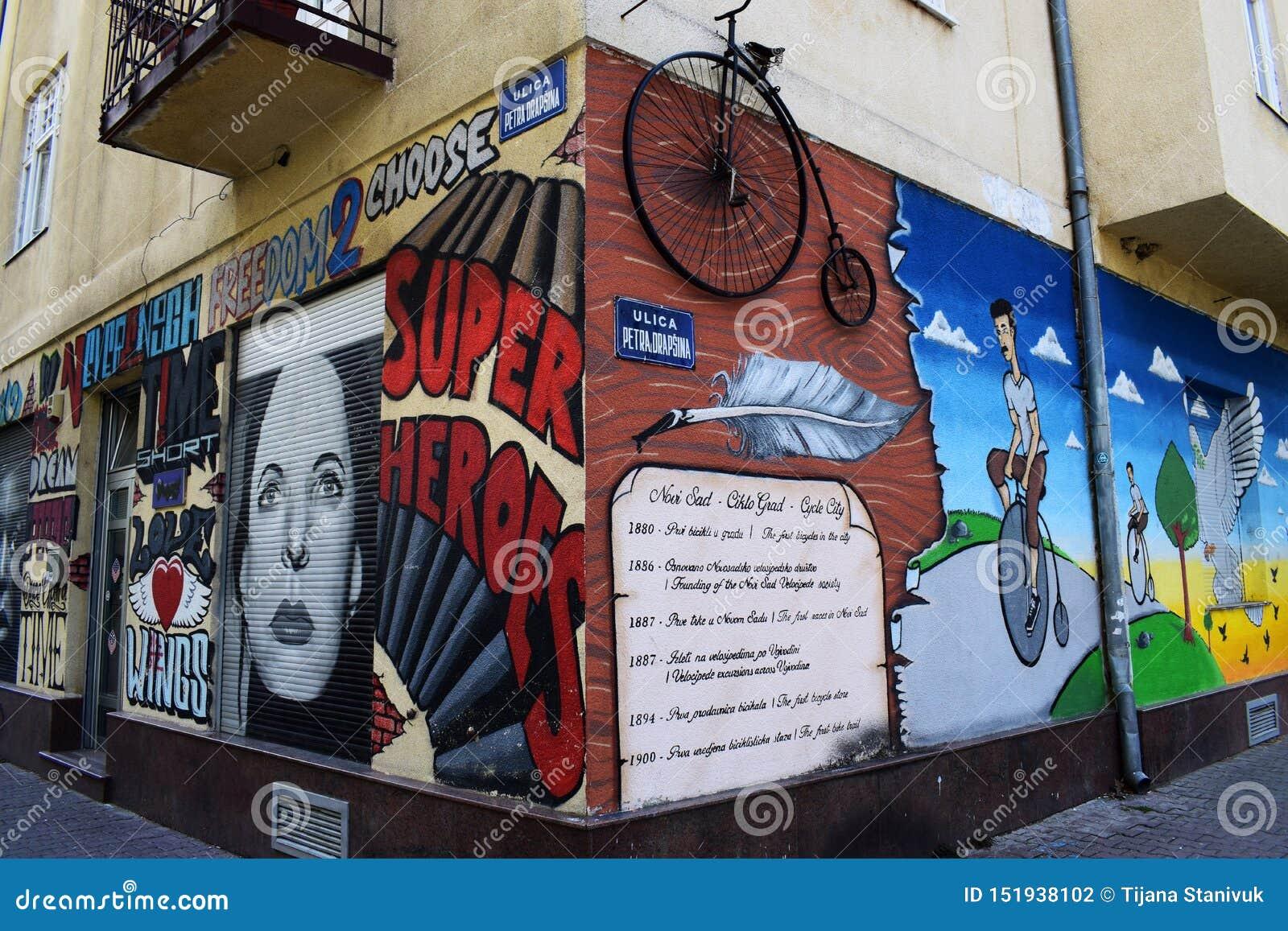 Straatkunst, Novi Sad, Servië