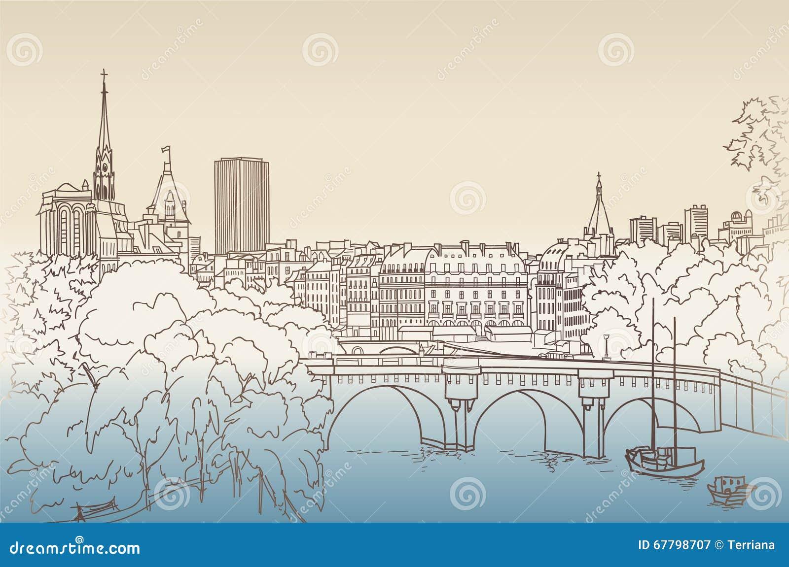 Straatmeningen in de oude stad Cityscape van Parijs mening van Louvre