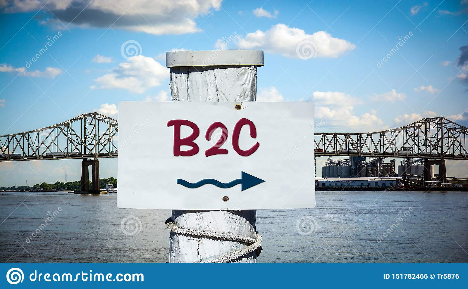 Straatteken aan B2C