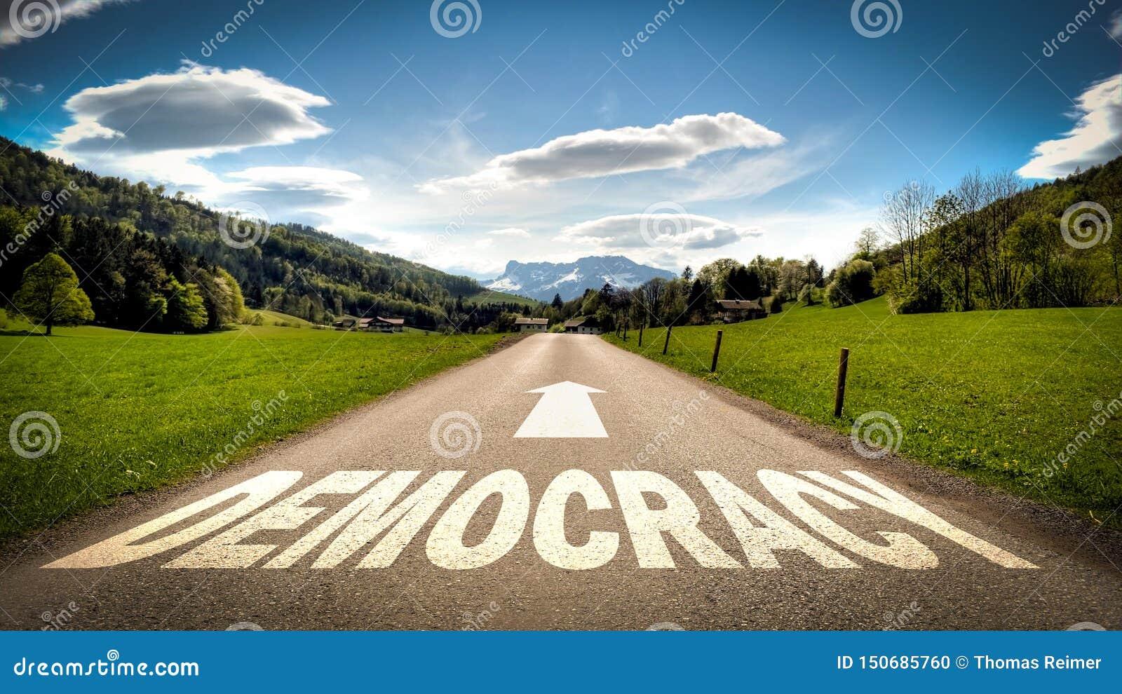 Straatteken aan Democratie