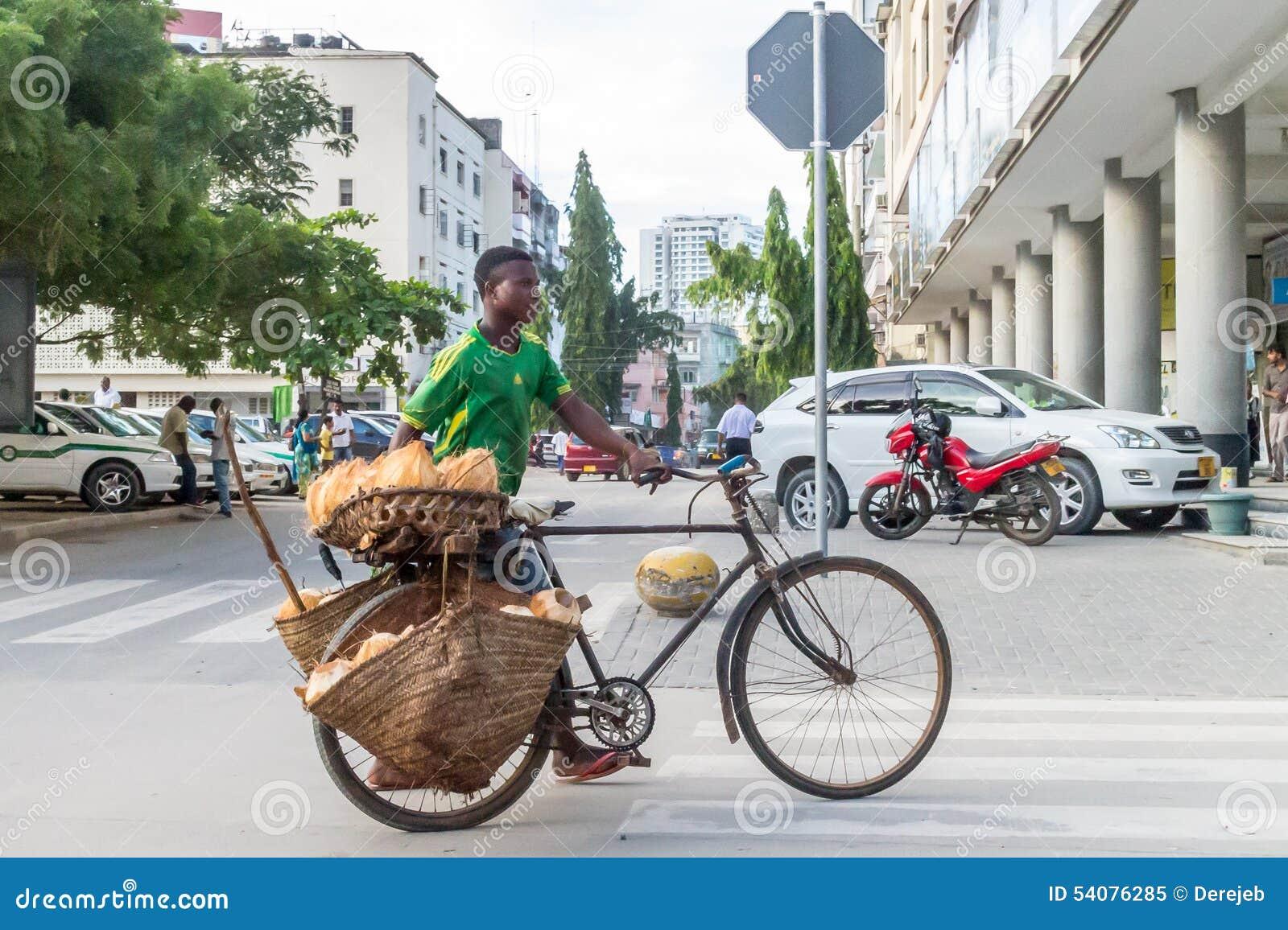 Straatventers van Dar Es Salaam