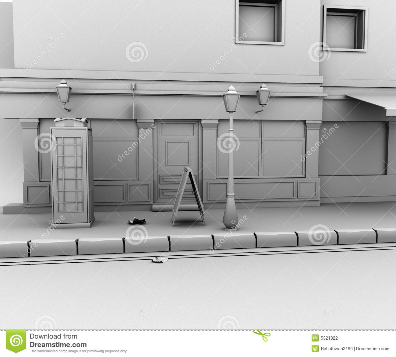 Download Strada 3d illustrazione di stock. Illustrazione di grunge - 5321822
