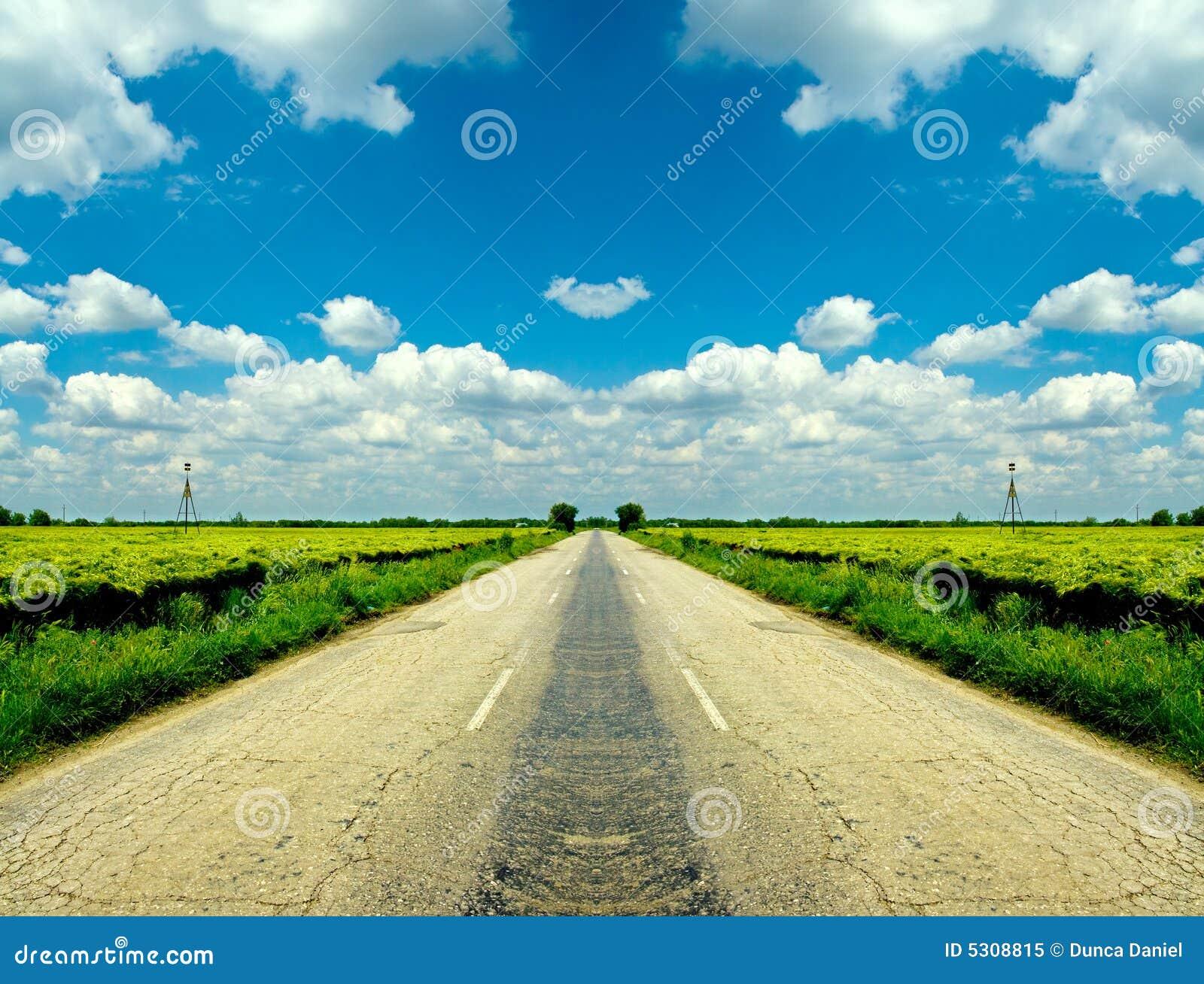 Download Strada campestre immagine stock. Immagine di orizzonte - 5308815