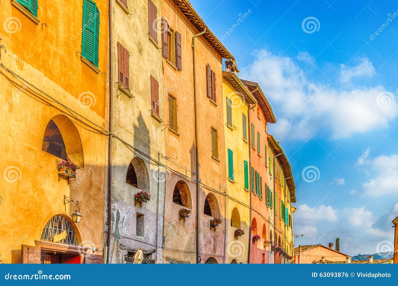 Strada degli asini in Brisighella, Italia