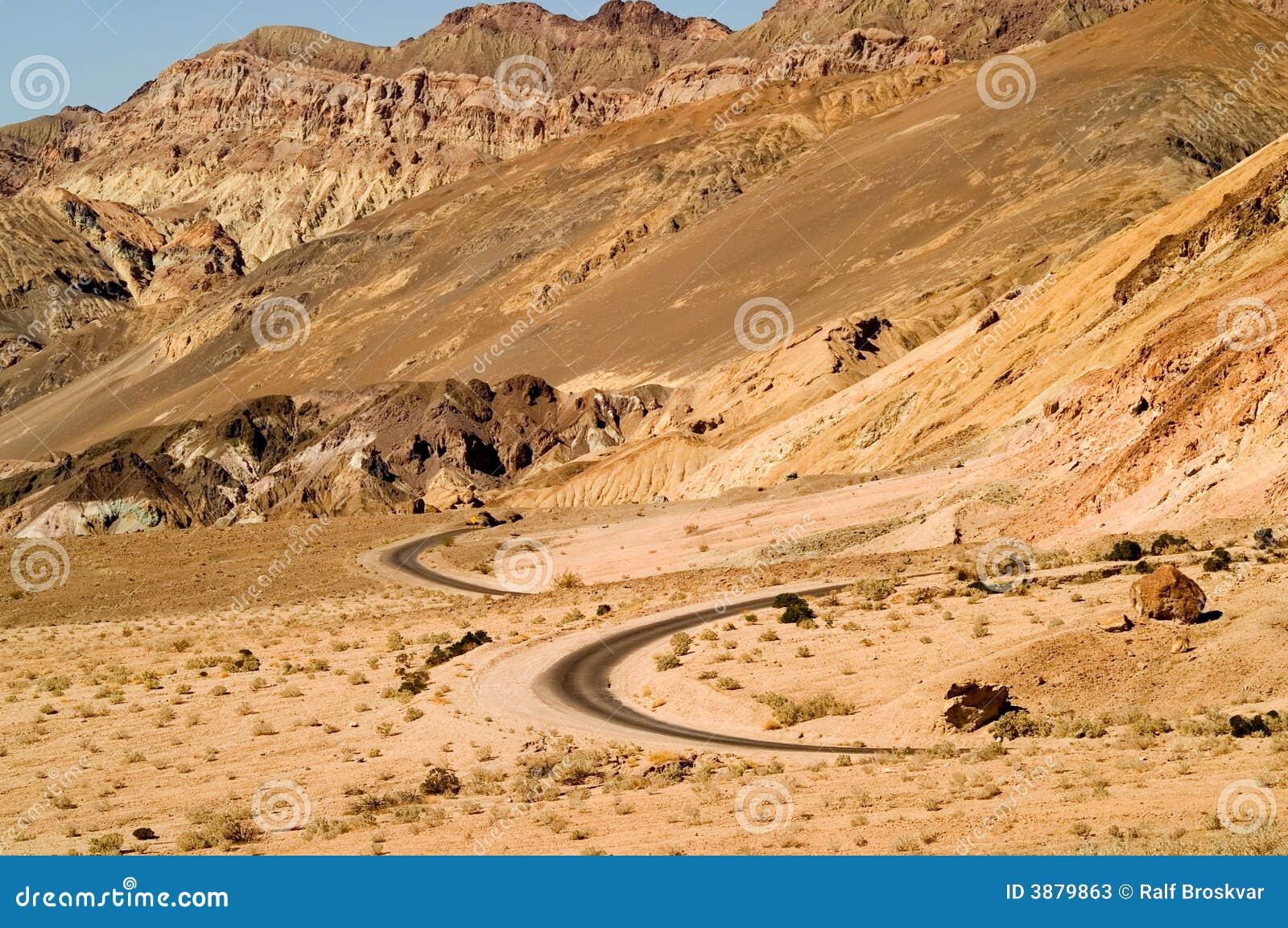 Strada del deserto di bobina