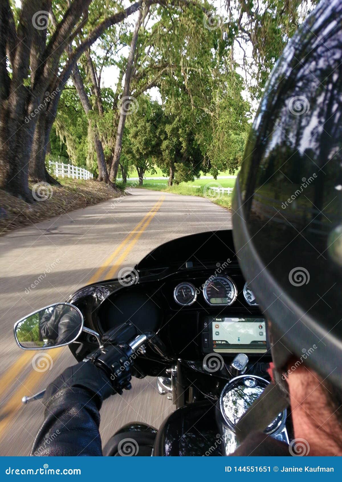 Strada del motociclista OTS POV California della bici