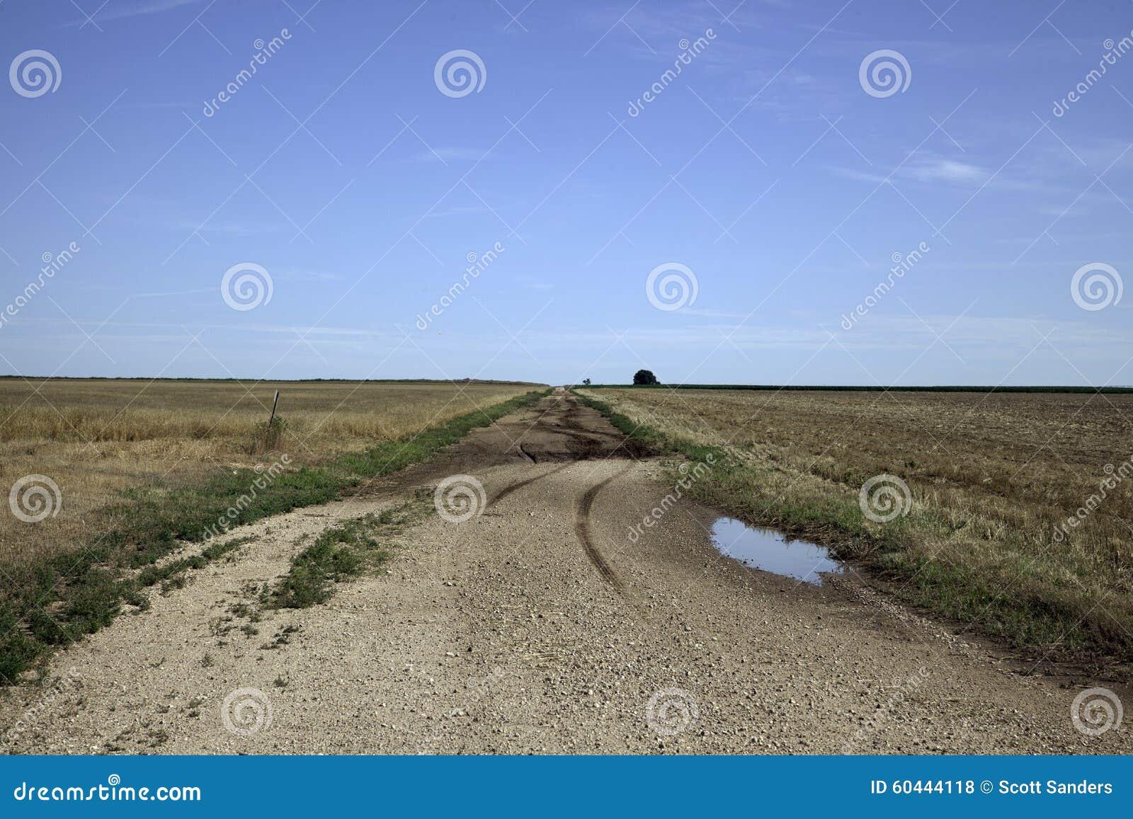 Strada non asfaltata di Oklahoma