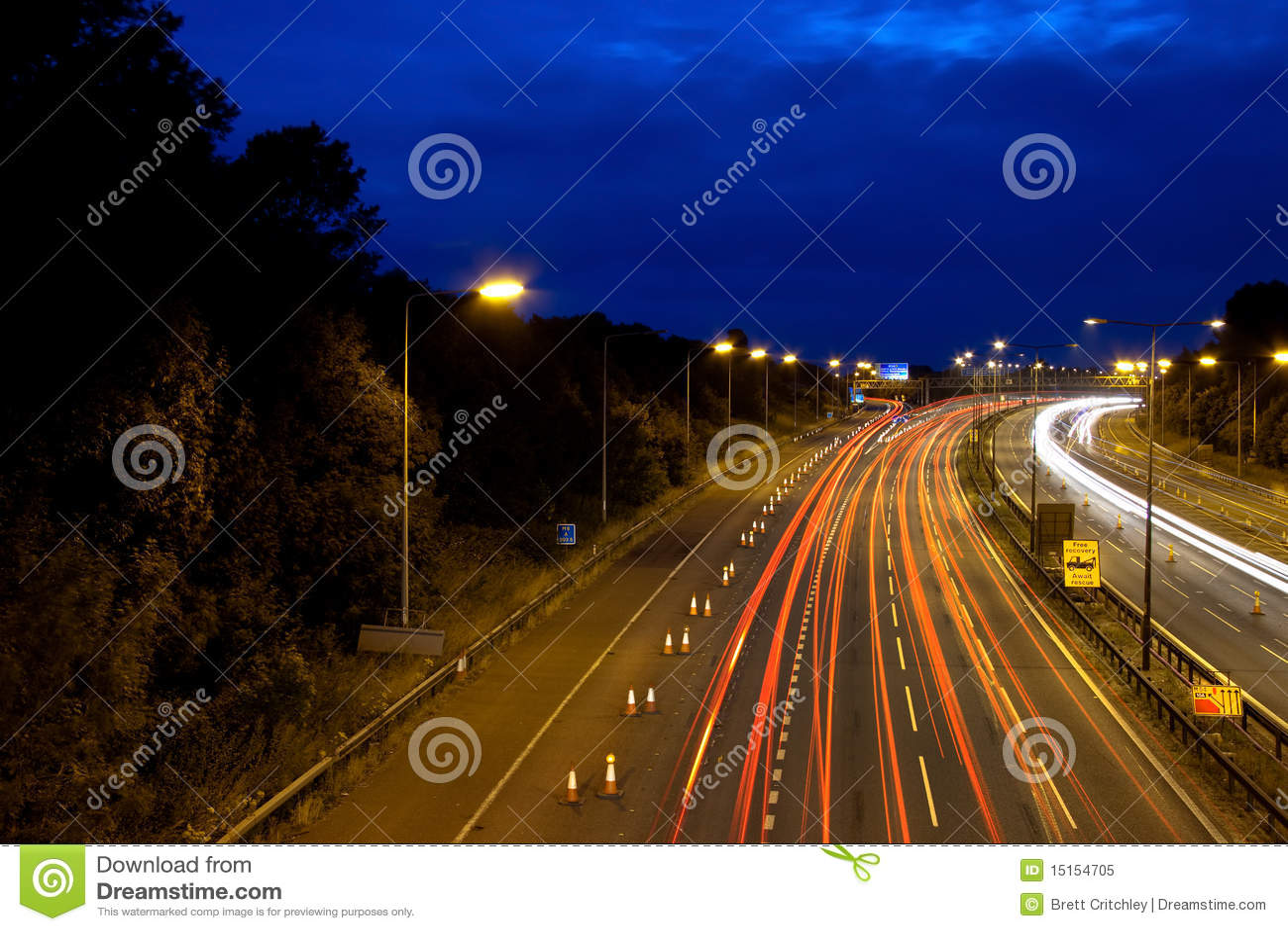 Strada principale alla notte