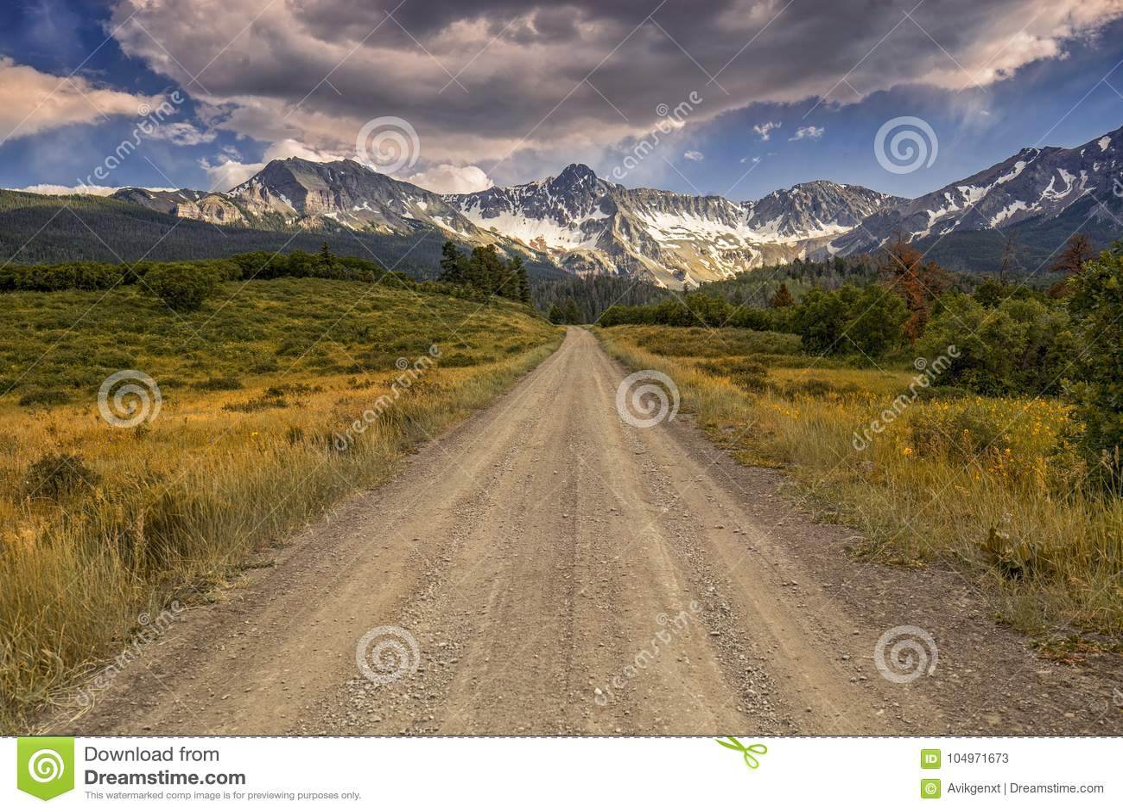 Strade Colorado 9, tellururo, U.S.A. della contea