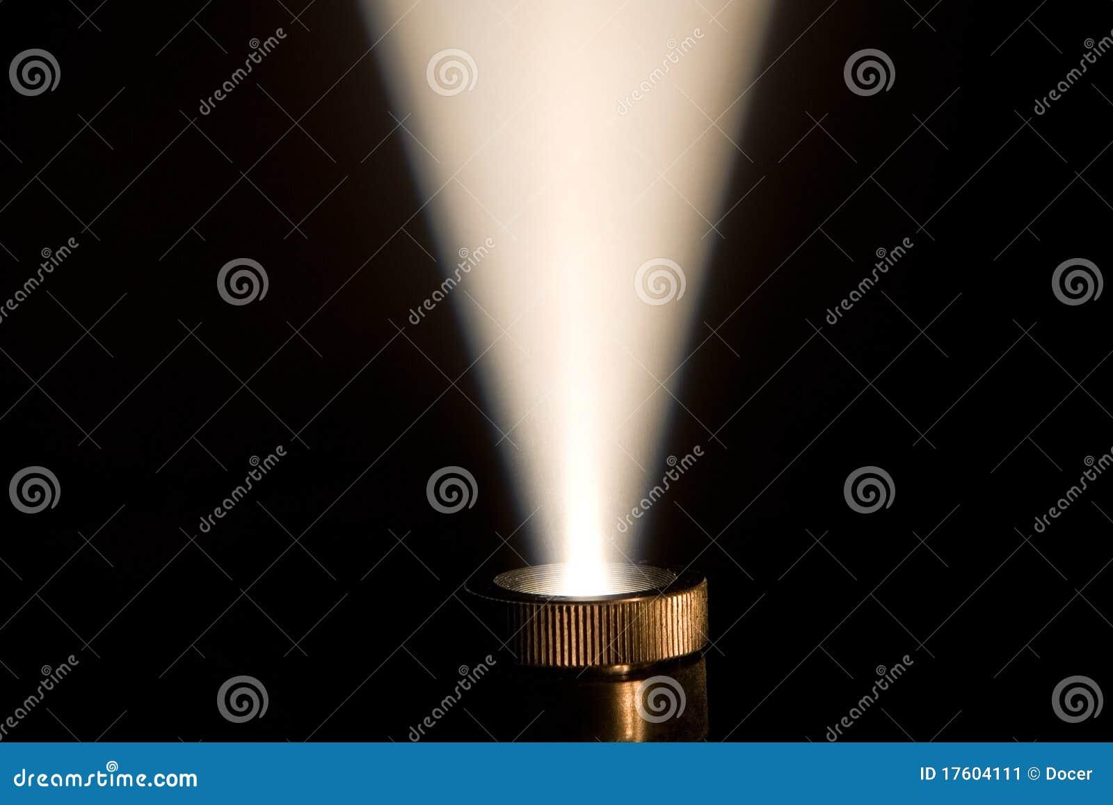 Strahl der Leuchte von einem Projektor