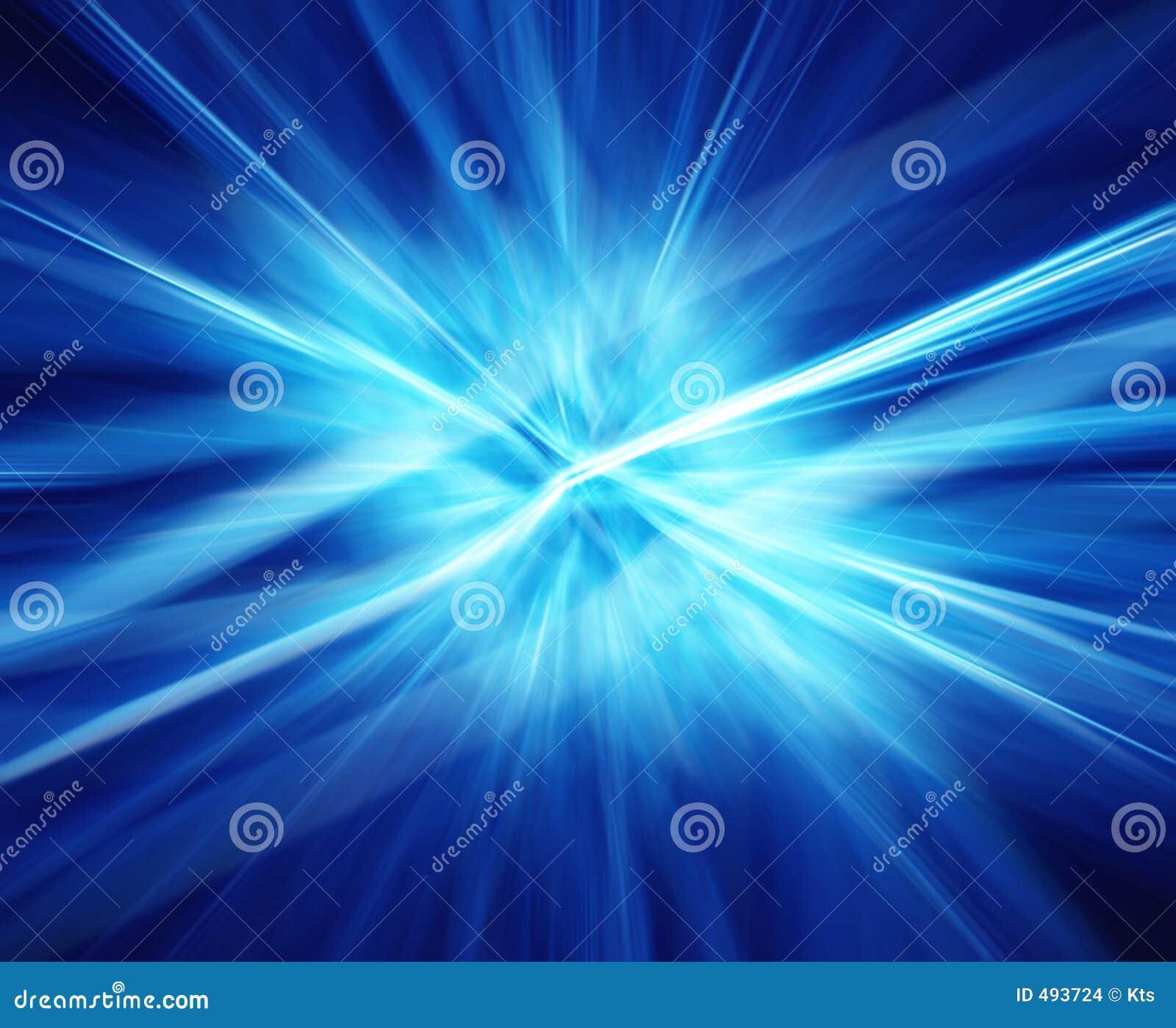 Strahlen der blauen Energie.