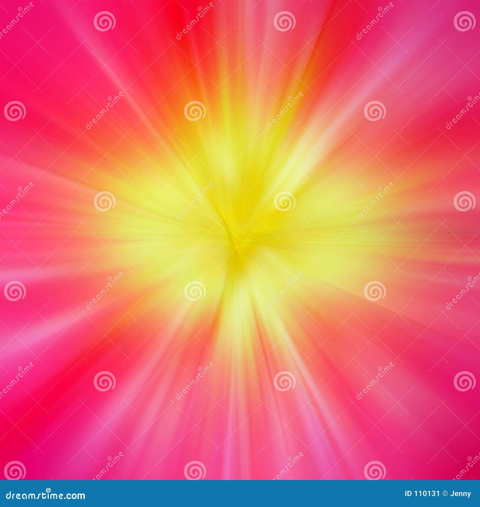 Strahlen der farbigen Leuchte