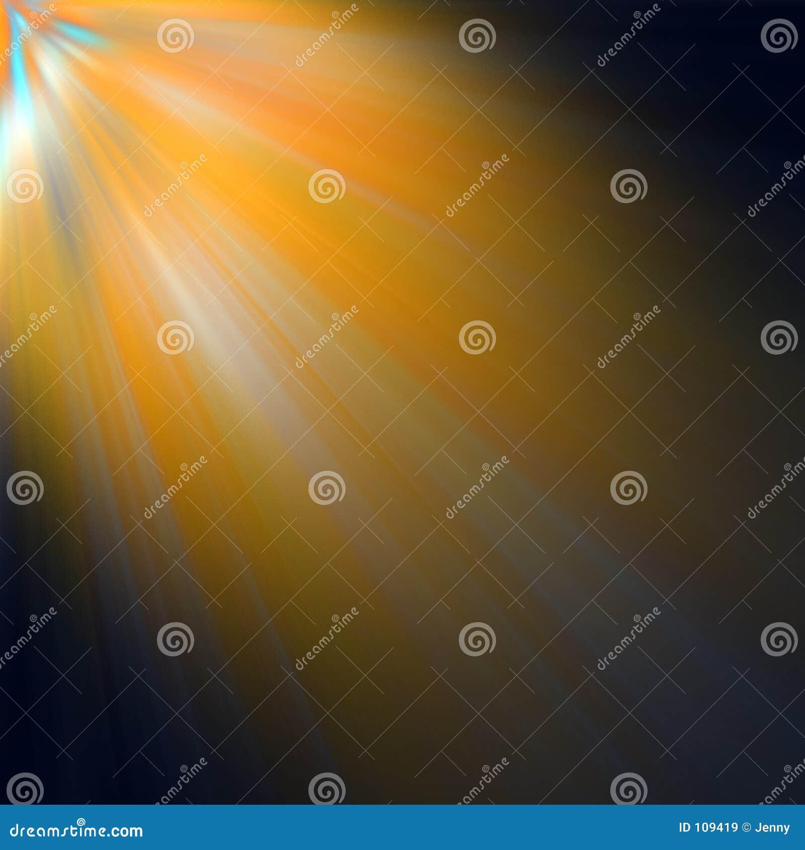 Strahlen der Leuchte