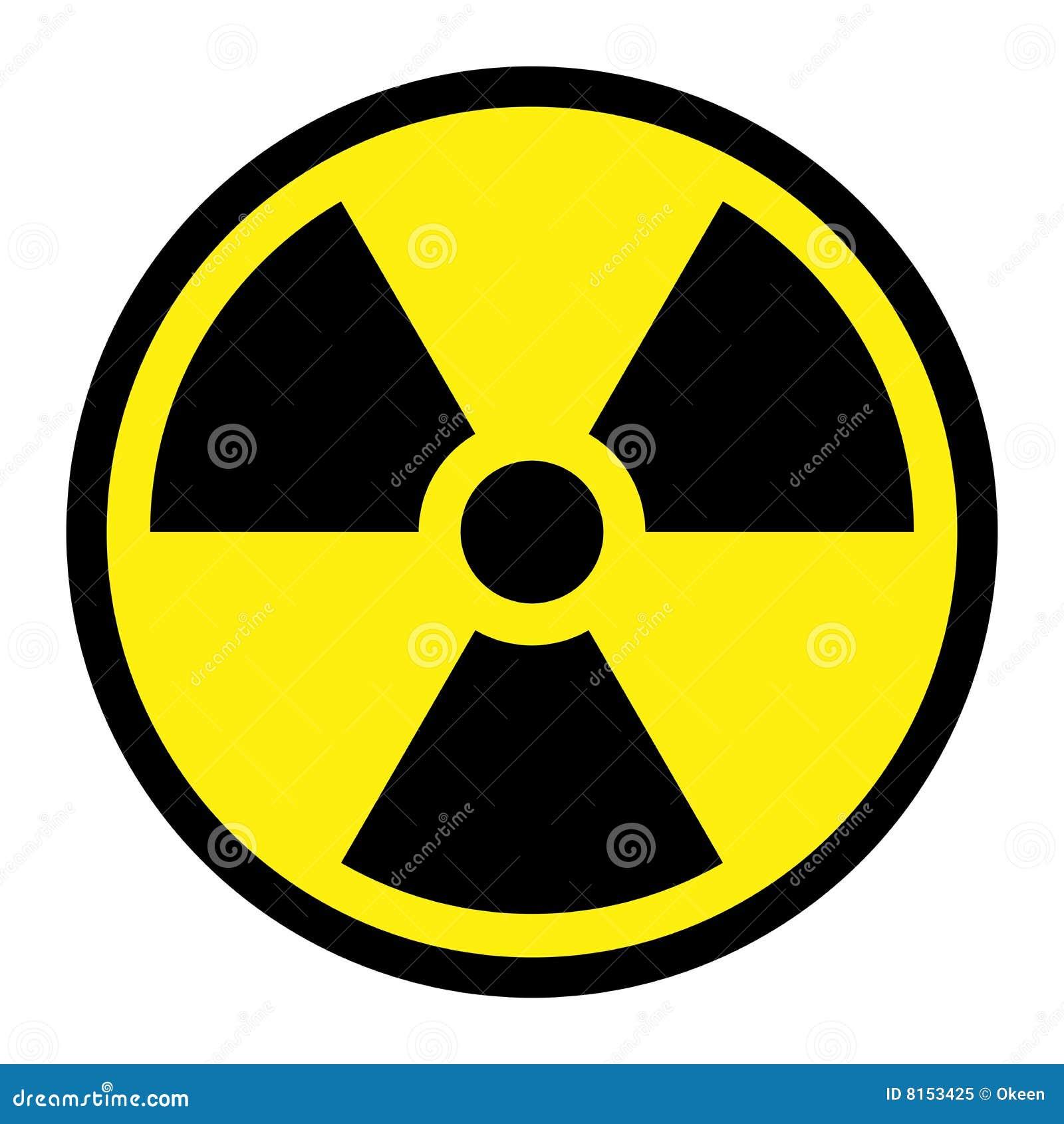 Strahlung - rundes Zeichen