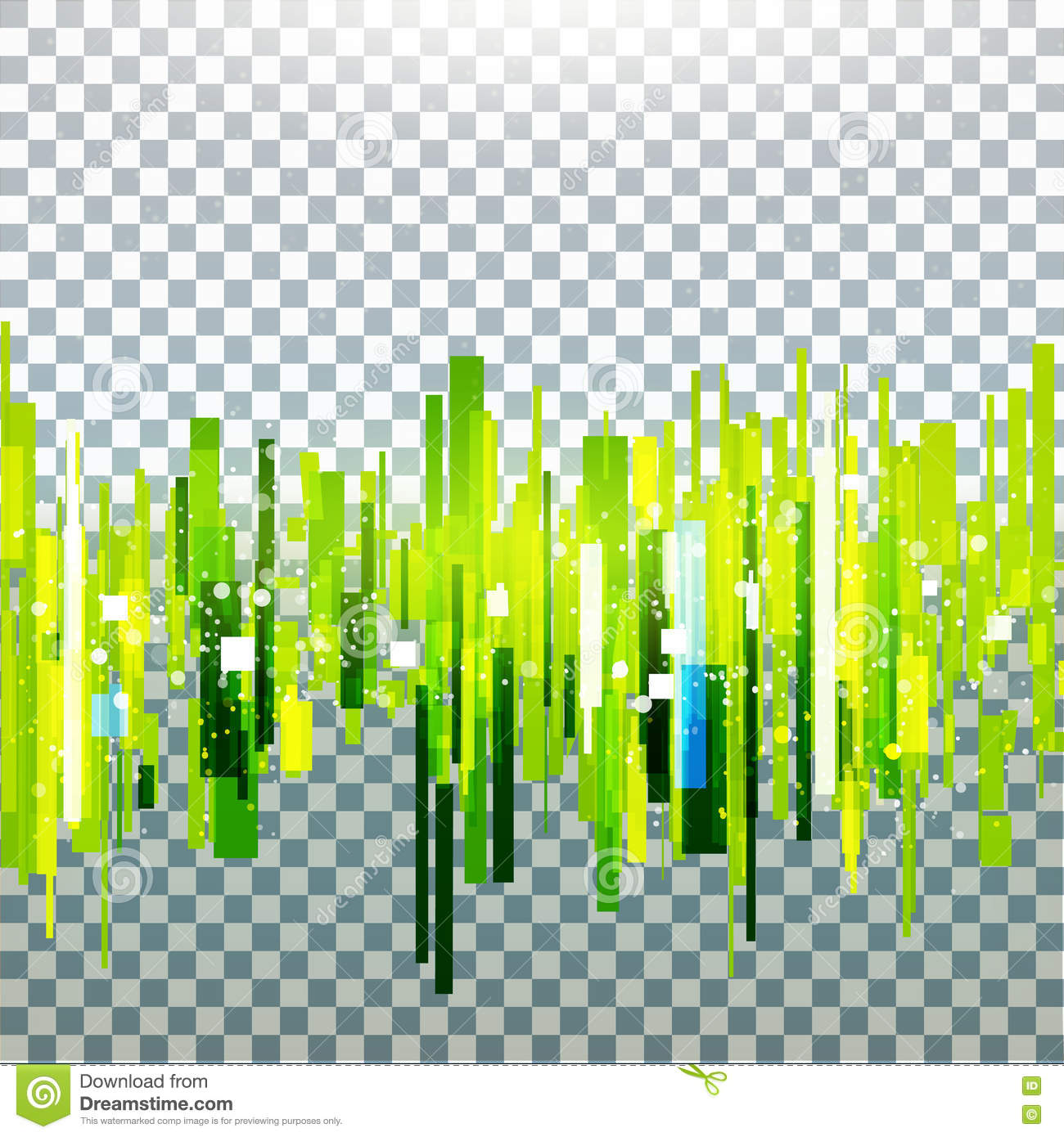 Straight Green Lines Abstract Vector On Transparent Background