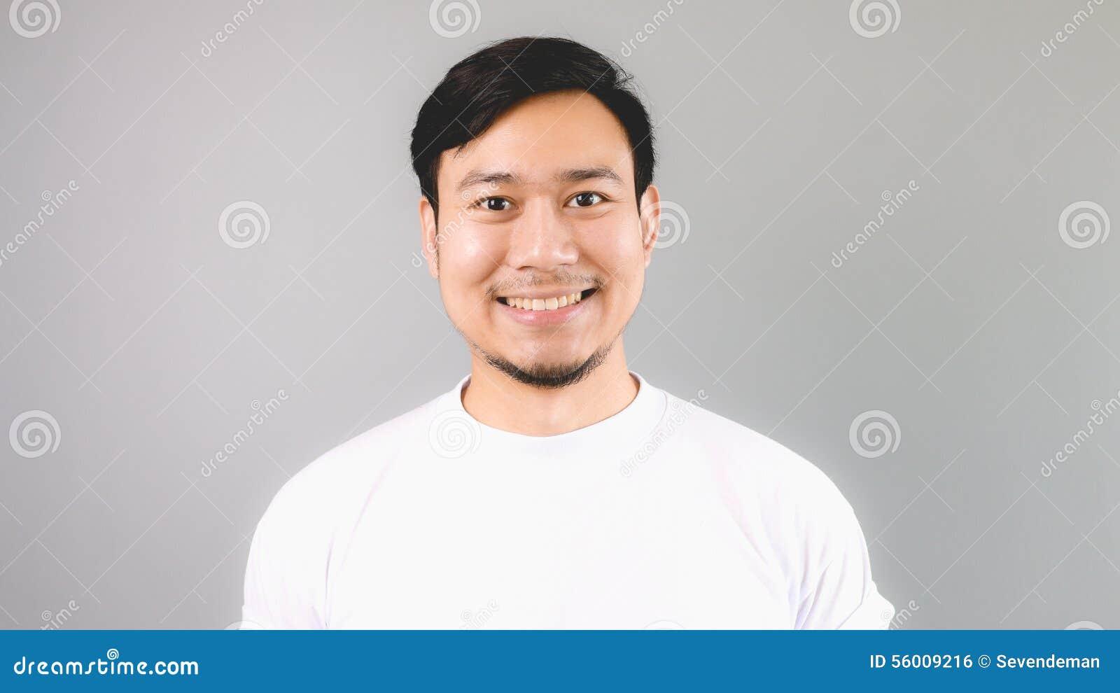 Straight happy face.