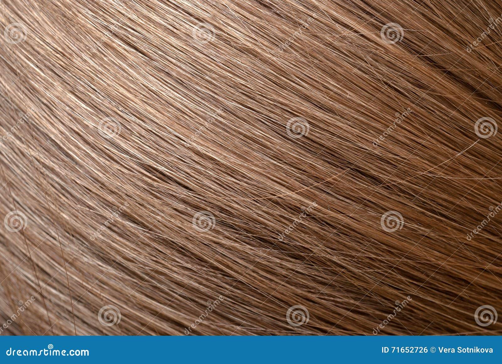 Straight light brown hair macro foto