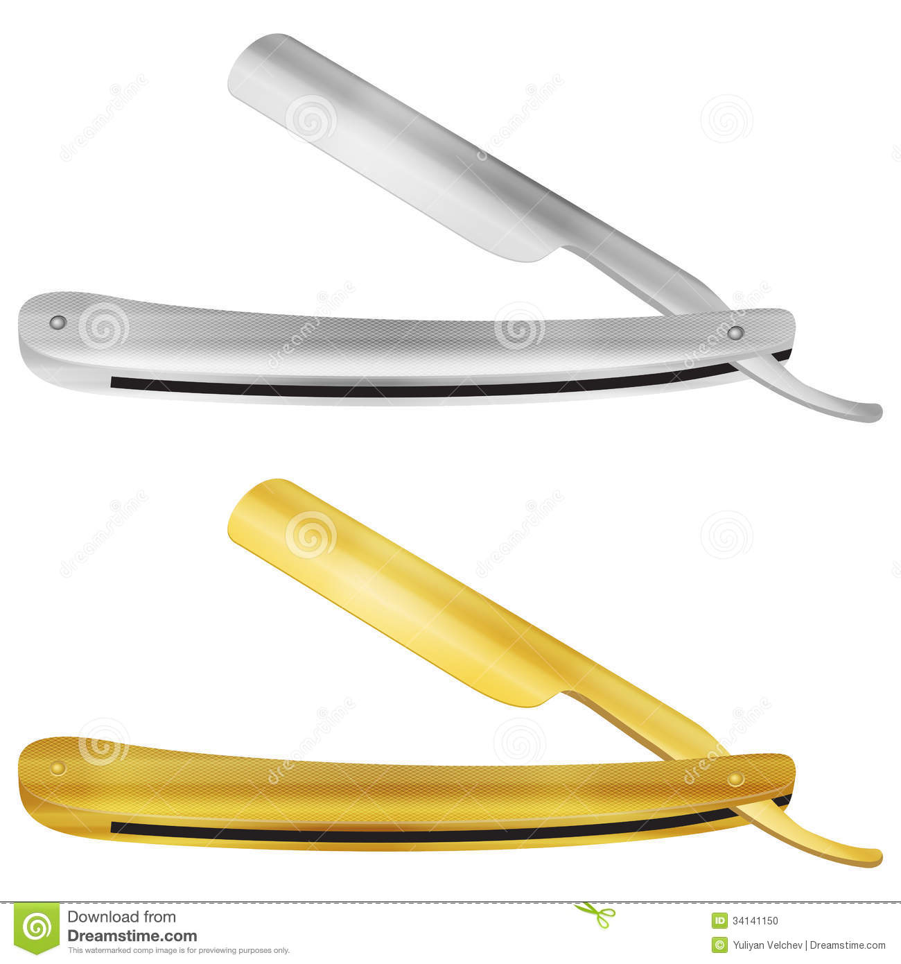 Straight Razor Set Stock Photo - Image: 34141150