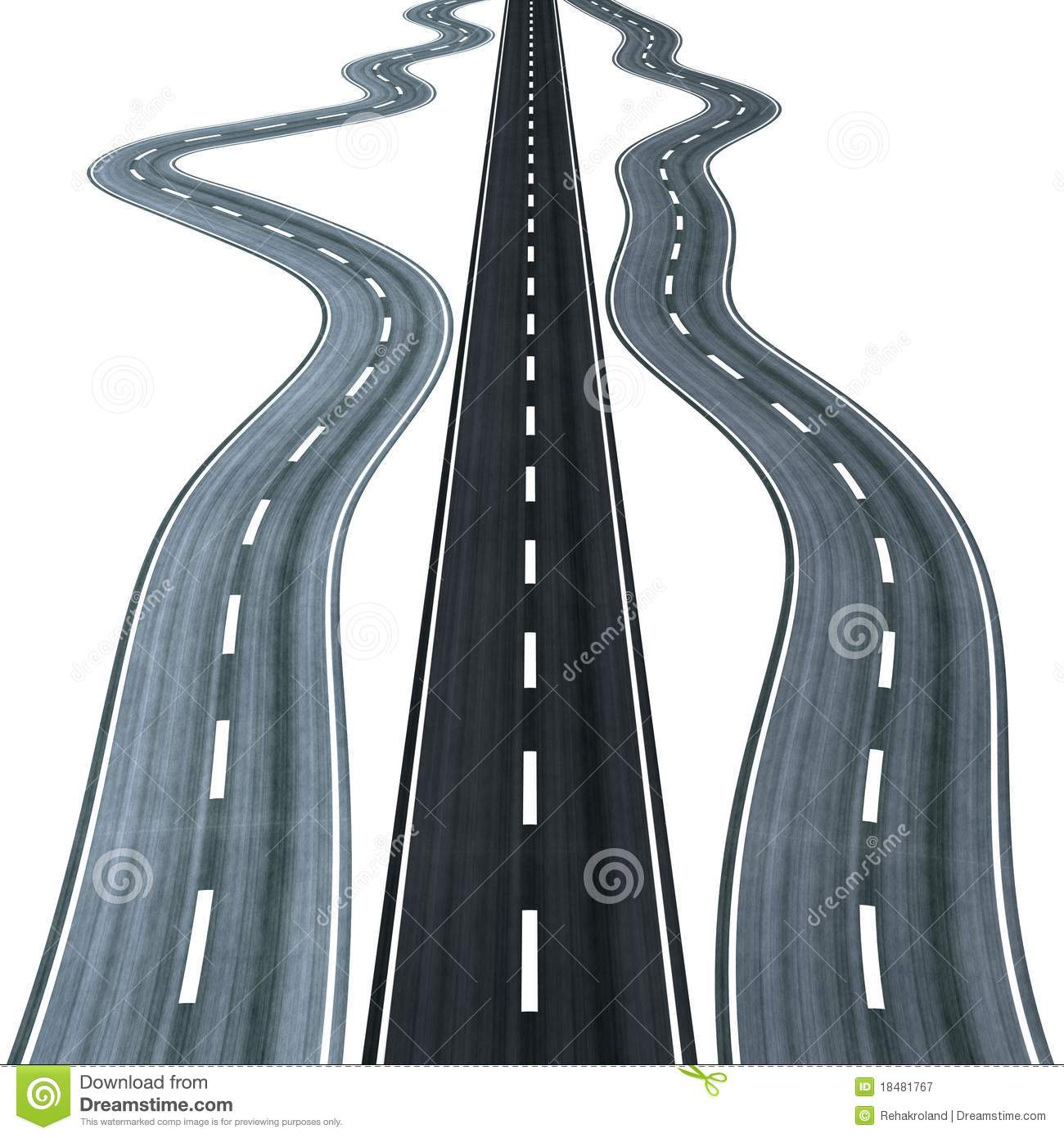 Winding Road Clipart Straight Road Among Wi...