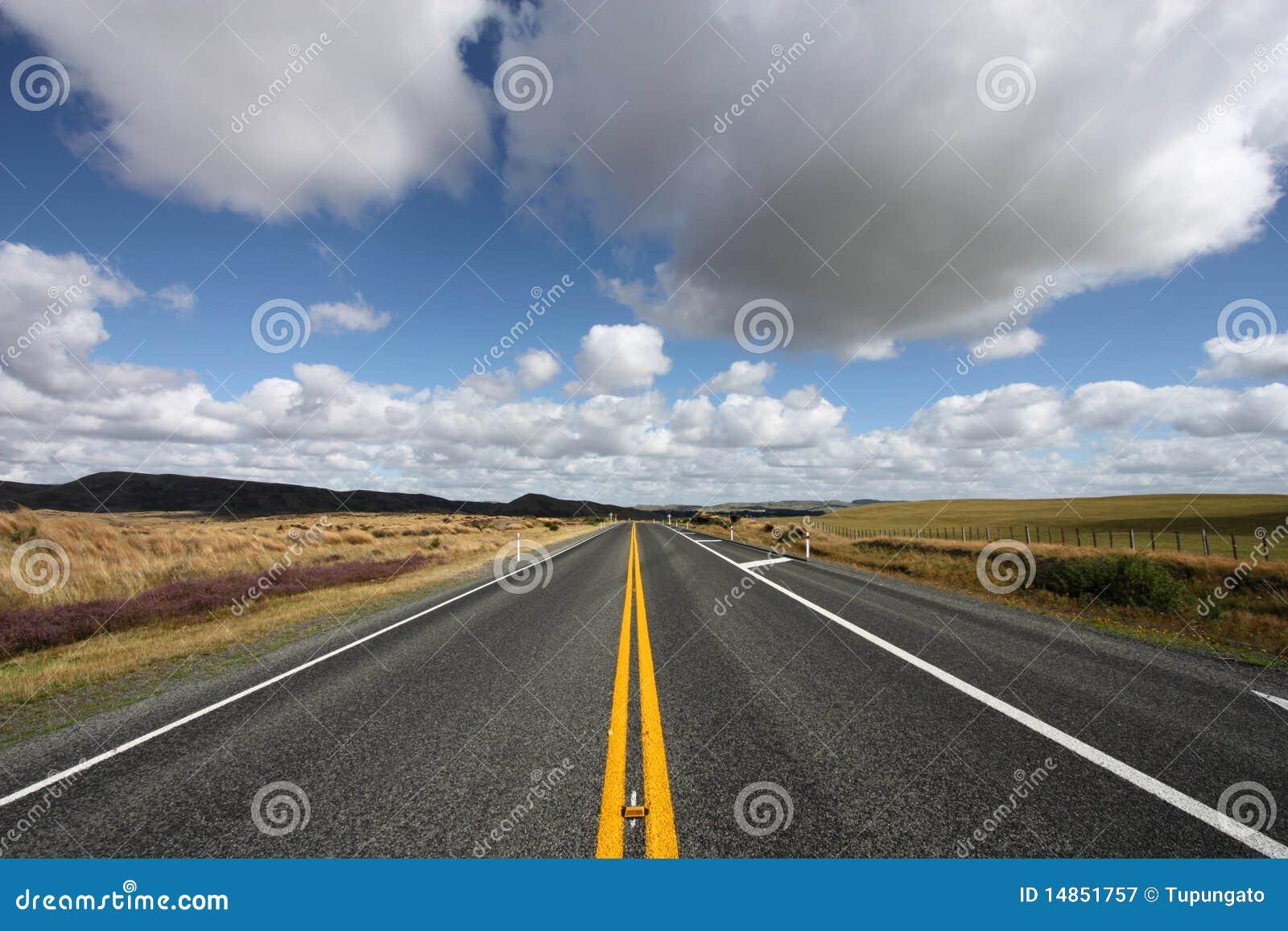 Straight scenic road