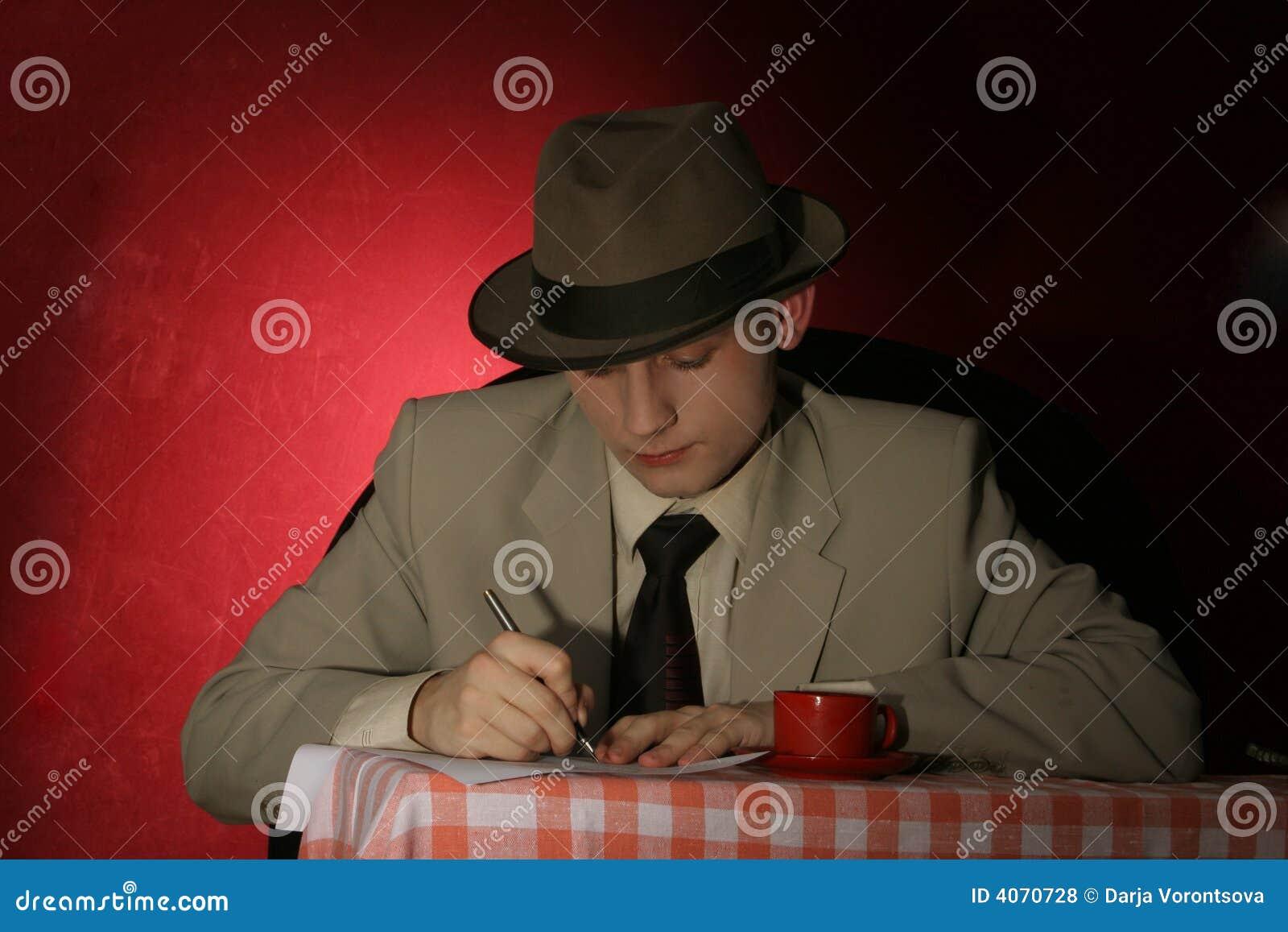 Strainger - mens in grijze hoed