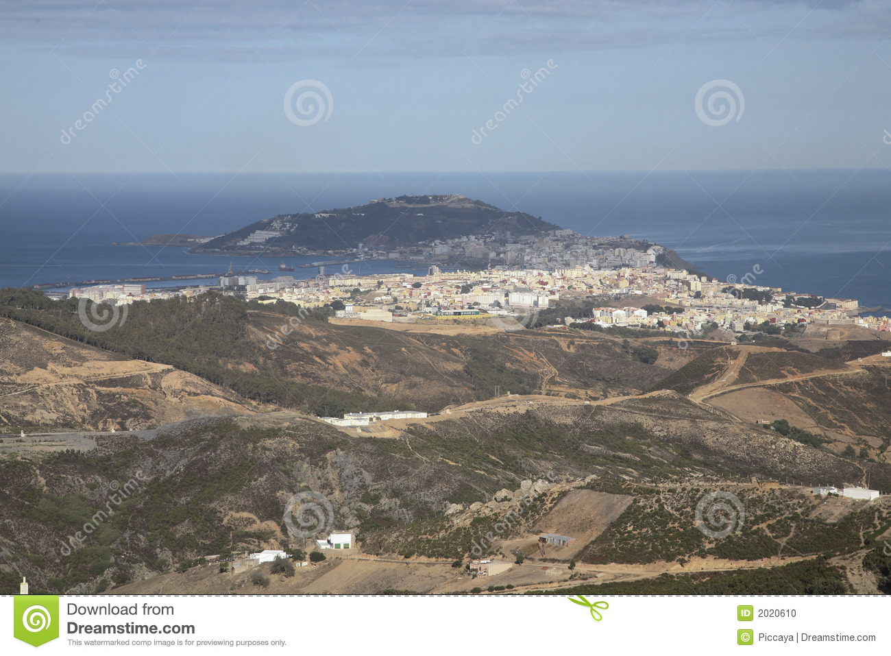 Straits of gibraltar stock photo image 2020610 - Moroccan port on the strait of gibraltar ...