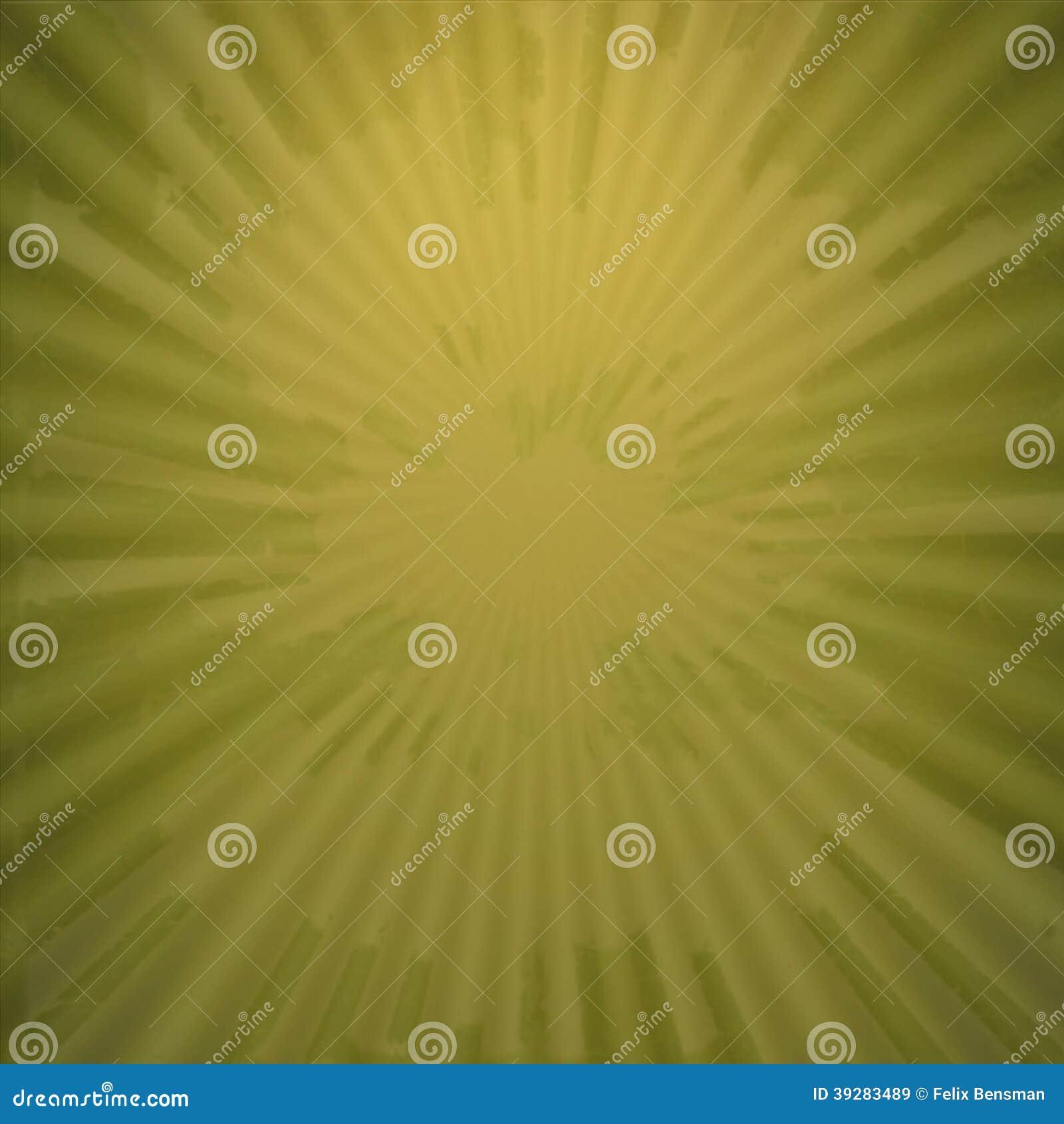 Stralen in abstract groen geel heelal