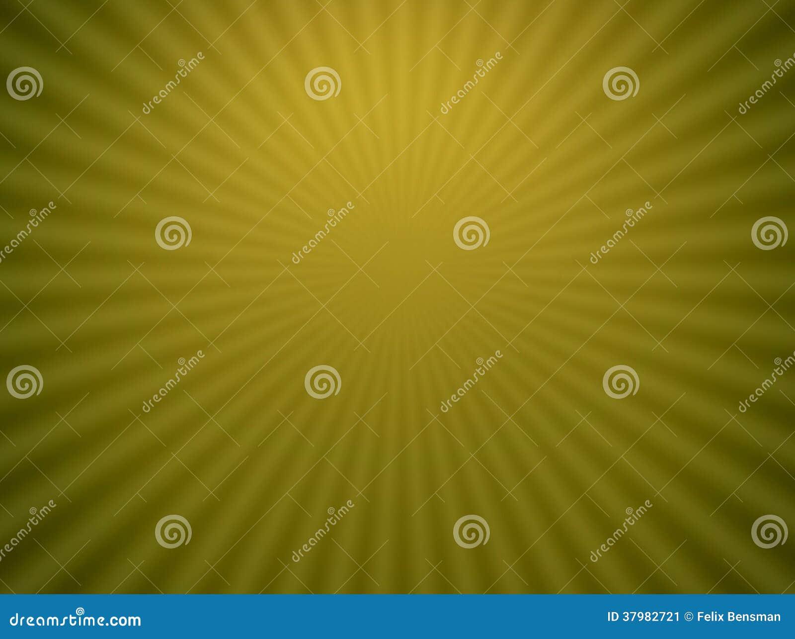 Stralen in geelgroen heelal