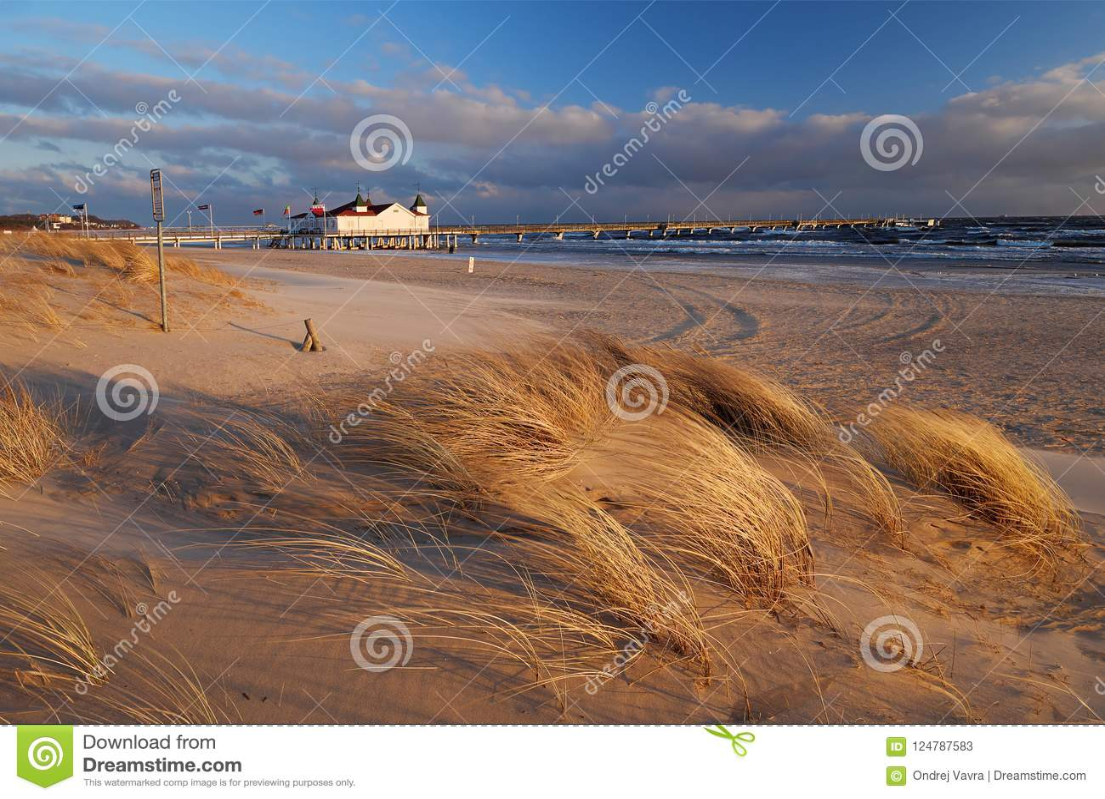 Strand in Ahlbeck, Usedom-Insel, Deutschland