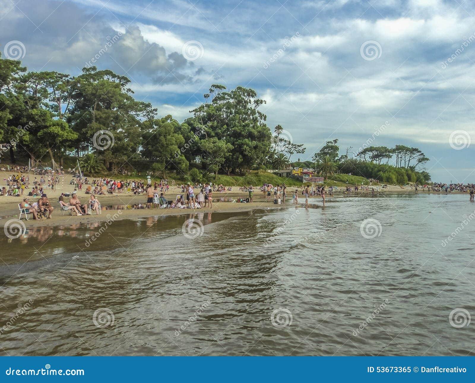 Strand-Ansicht vom Wasser