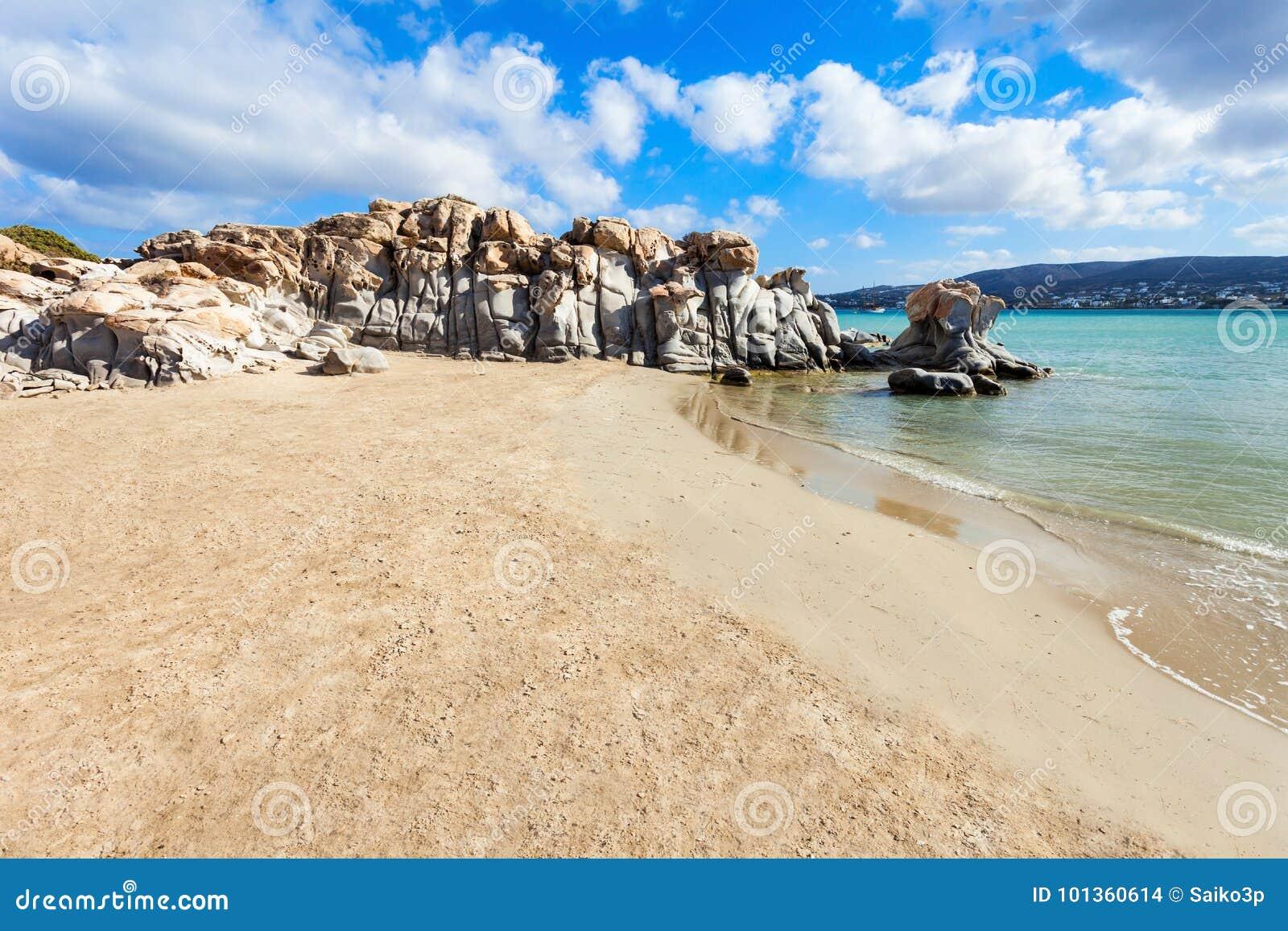 Strand auf Paros-Insel
